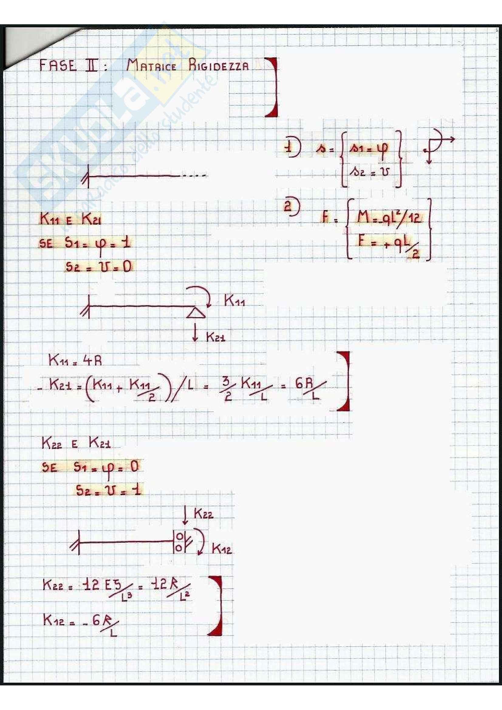 Tecnica delle Costruzioni - Esercizi Pag. 2