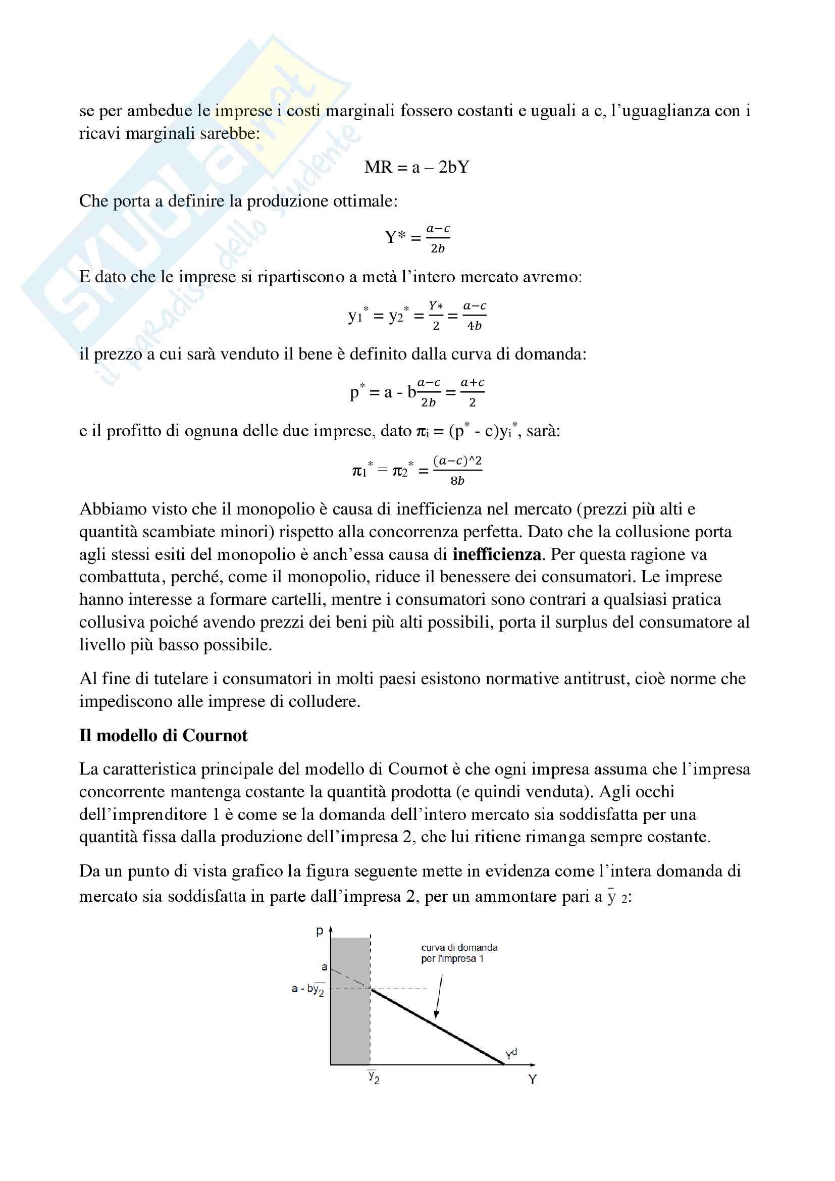 Riassunto esame Economia Politica 1, prof. Staffolani, libro consigliato Microeconomia - Introduzione all'economia politica, Staffolani Pag. 96