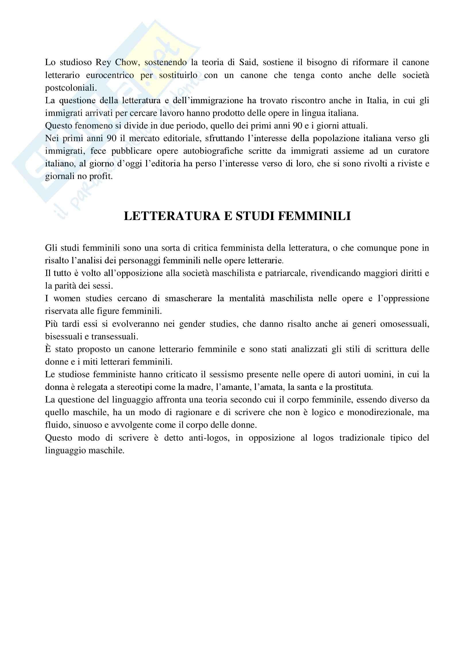 Riassunto esame Letterature Comparate, prof. Fusco, libro consigliato Che cos'è la letteratura comparata, Lopopolo Pag. 16