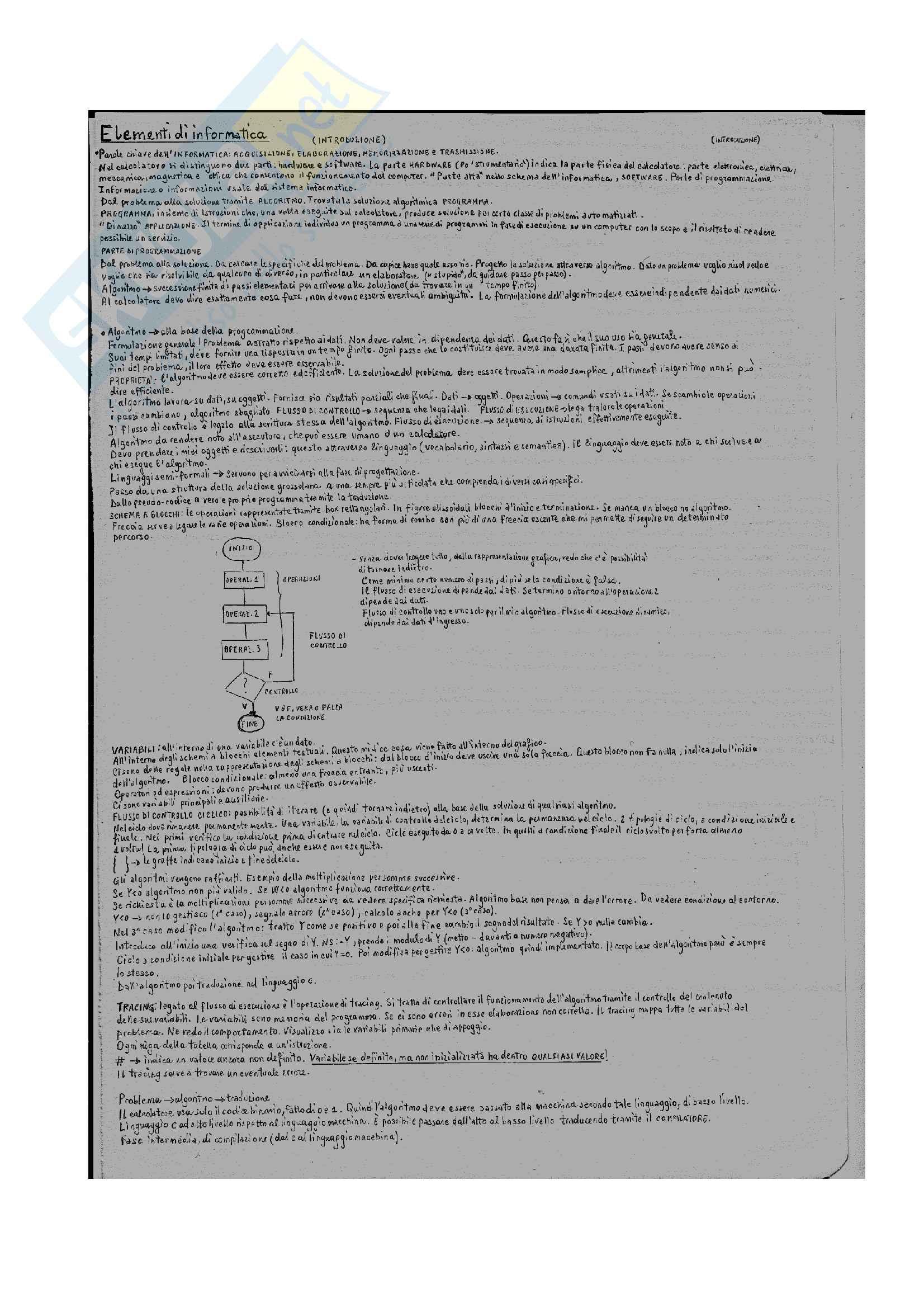 Informatica e linguaggio C-appunti