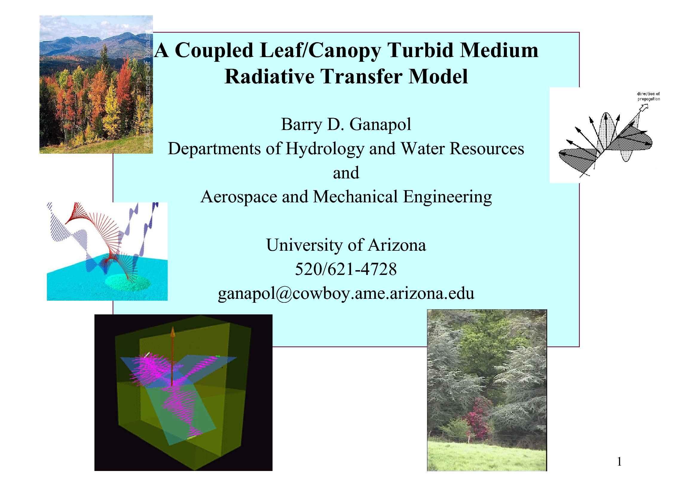 Trasferimento radiativo - Modelli