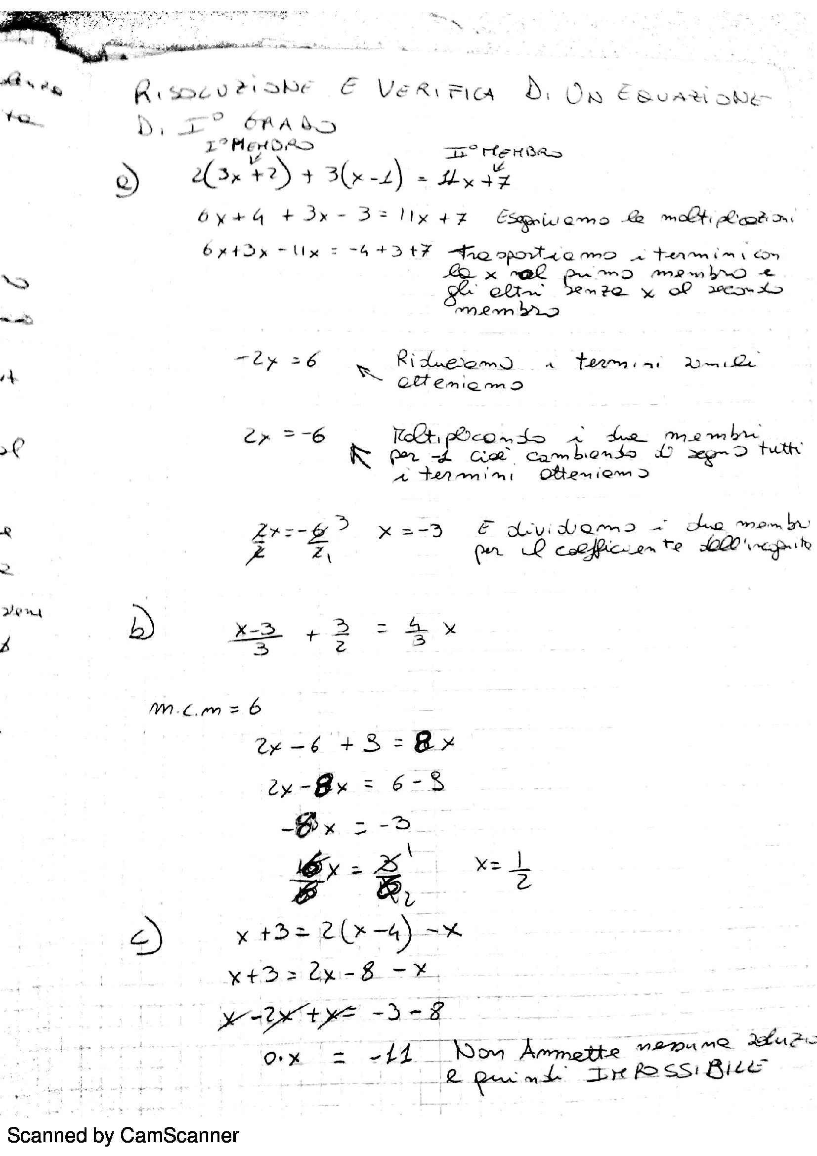 Analisi matematica 1 equazioni fratte letterali e - Tavola di tracciamento secondo grado ...