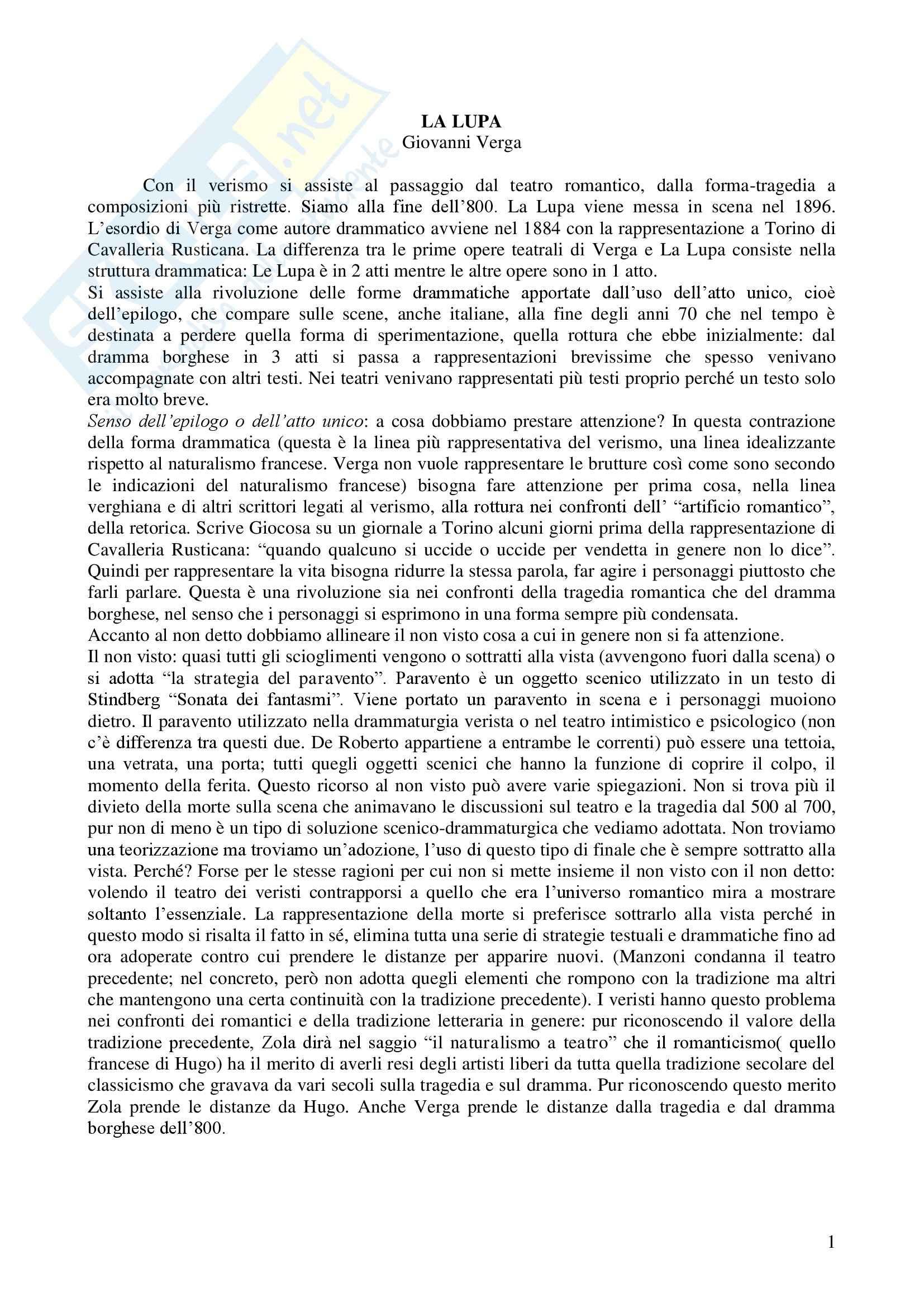 appunto B. Alfonzetti Letteratura teatrale italiana