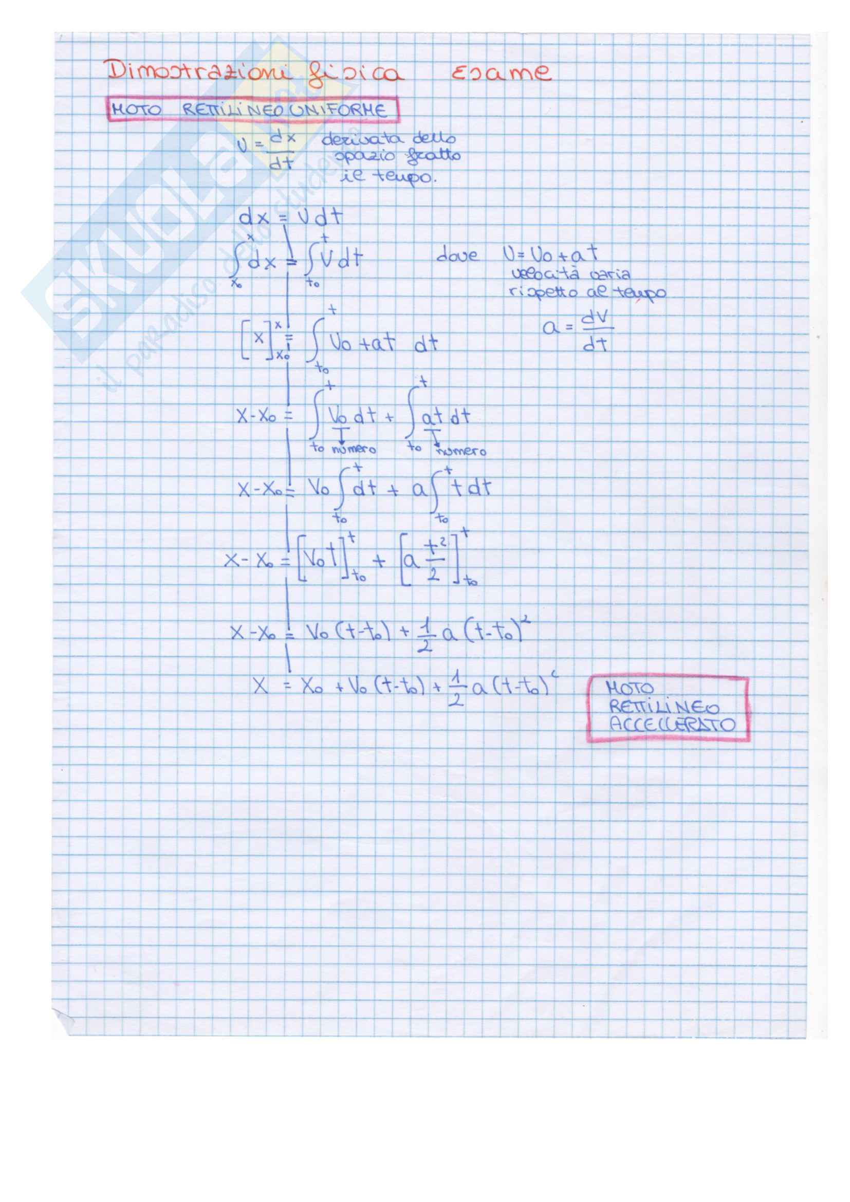 Dimostrazioni di tutte le formule di fisica