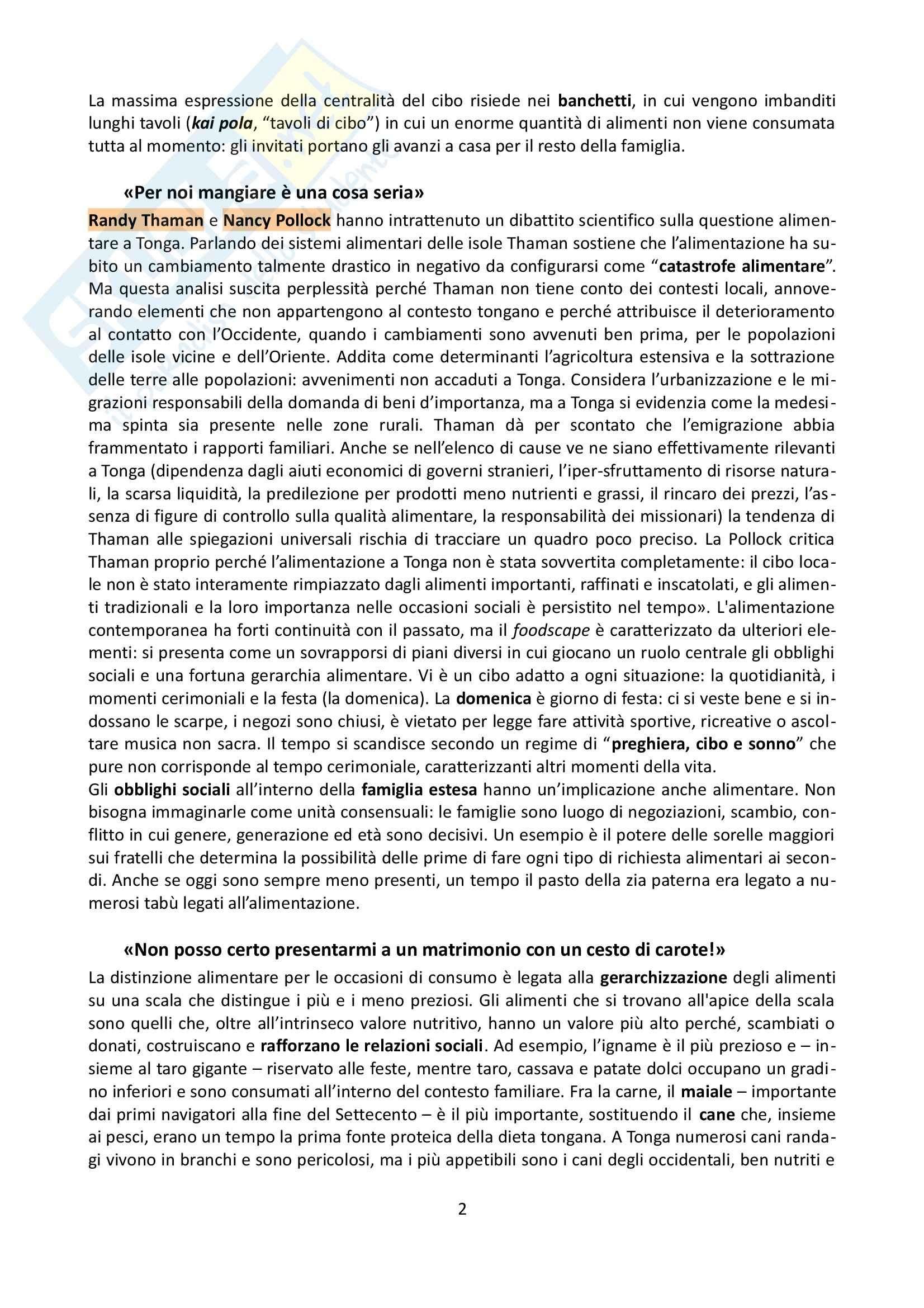 Riassunto esame Antropologia, prof. Allovio, libro consigliato Il peso del corpo, Cottino Pag. 2