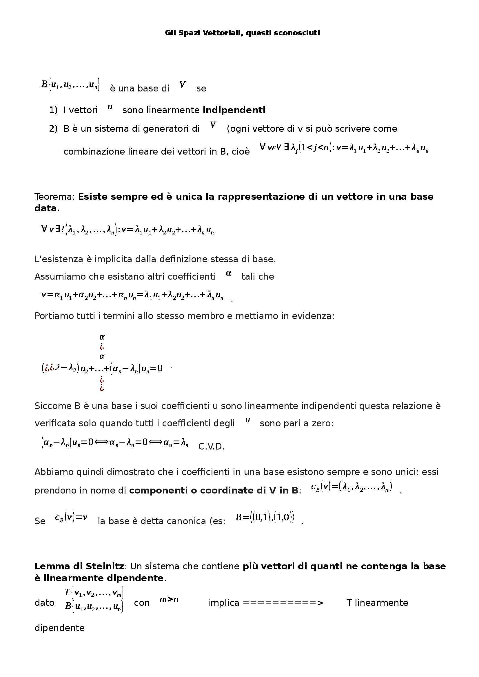 Analisi matematica I - spazi vettoriali Pag. 2