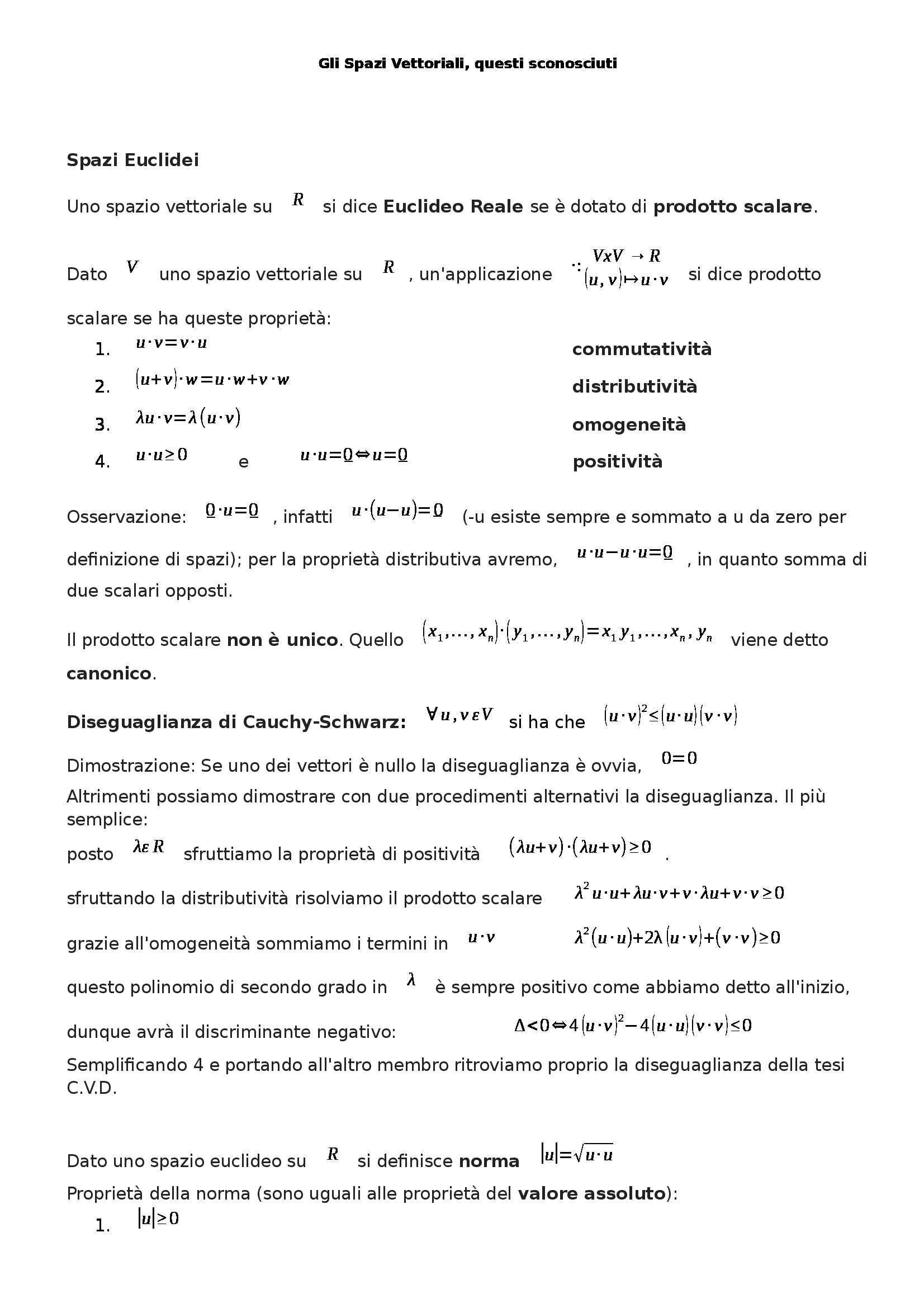 Analisi matematica I - spazi vettoriali Pag. 6