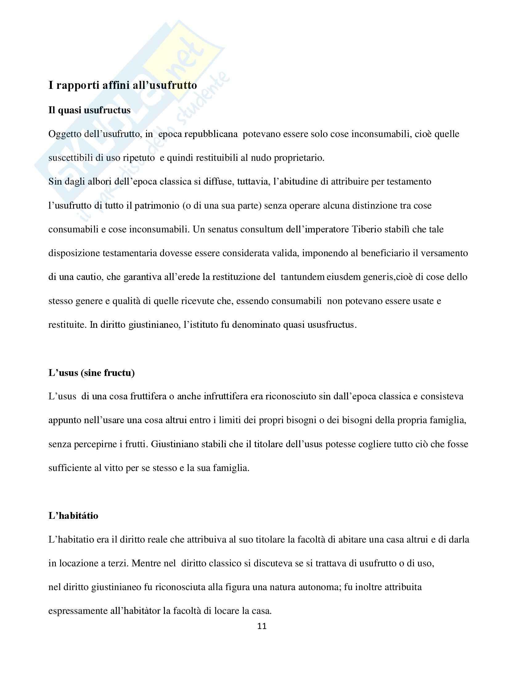 Diritto Romano,  Tesi Usufrutto Pag. 11