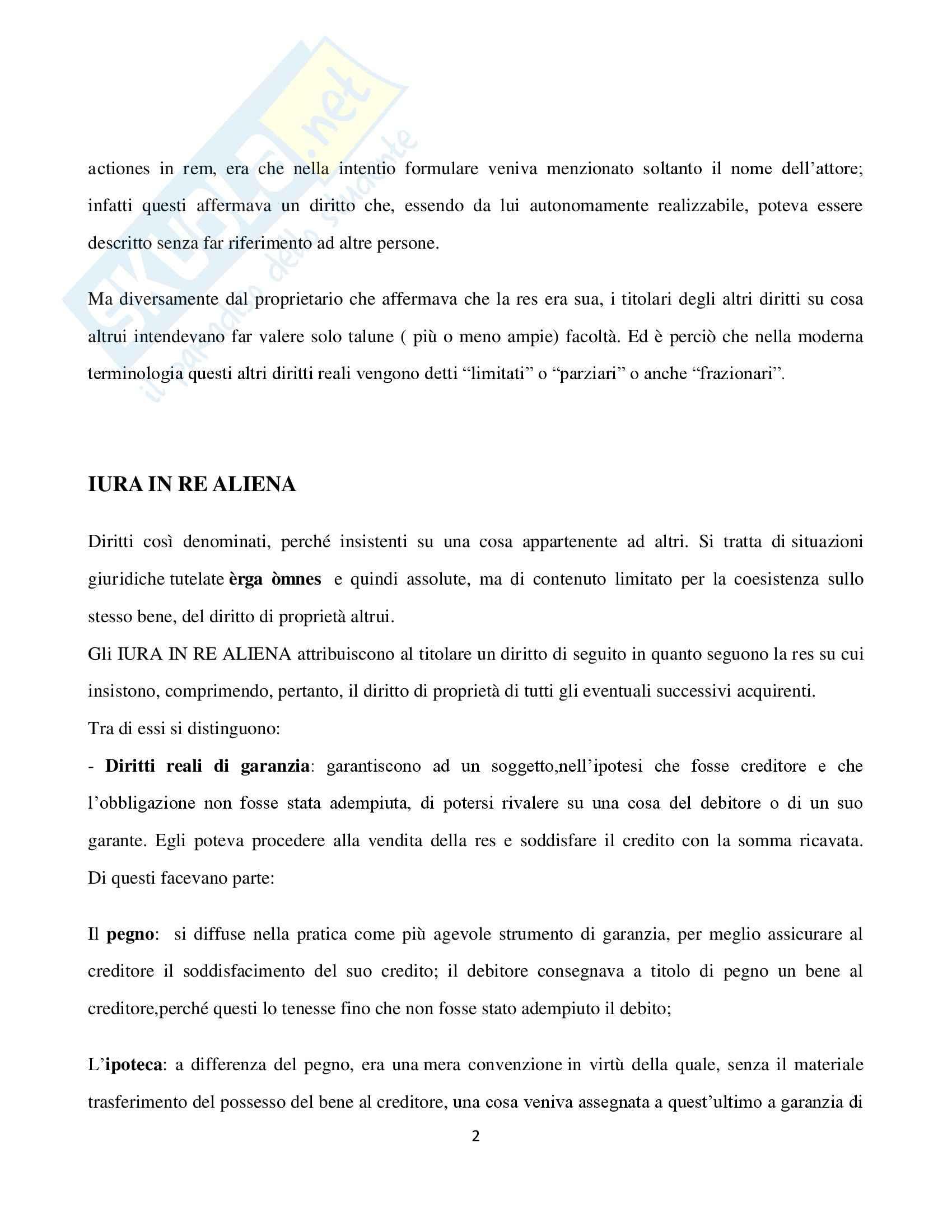 Diritto Romano,  Tesi Usufrutto Pag. 2