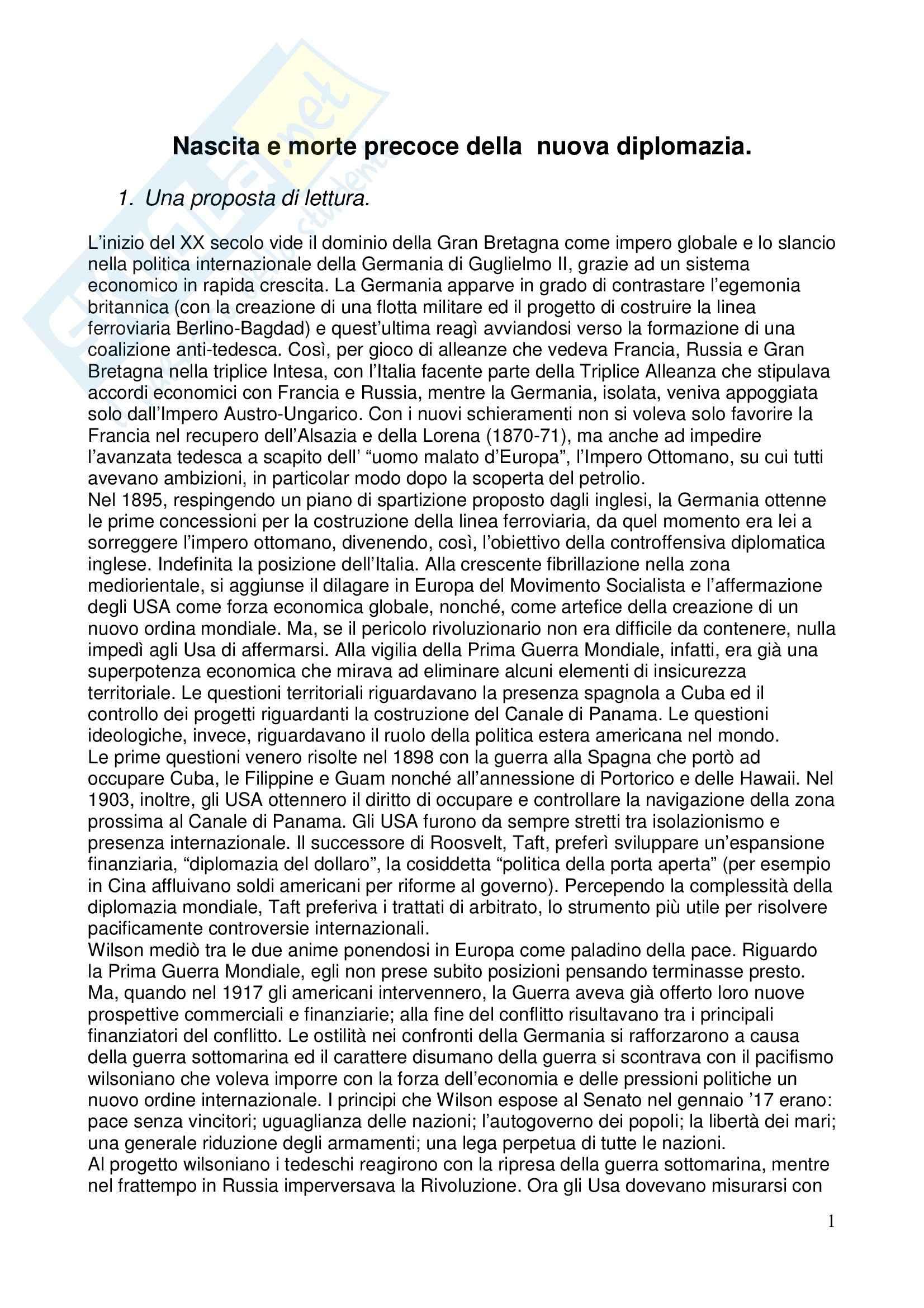 appunto M. Merlati Storia delle relazioni internazionali