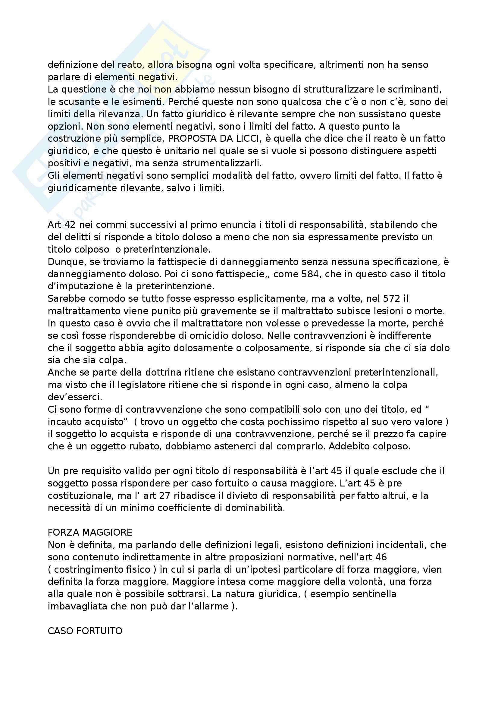 Diritto penale G. Licci  Appunti e lezioni Pag. 61