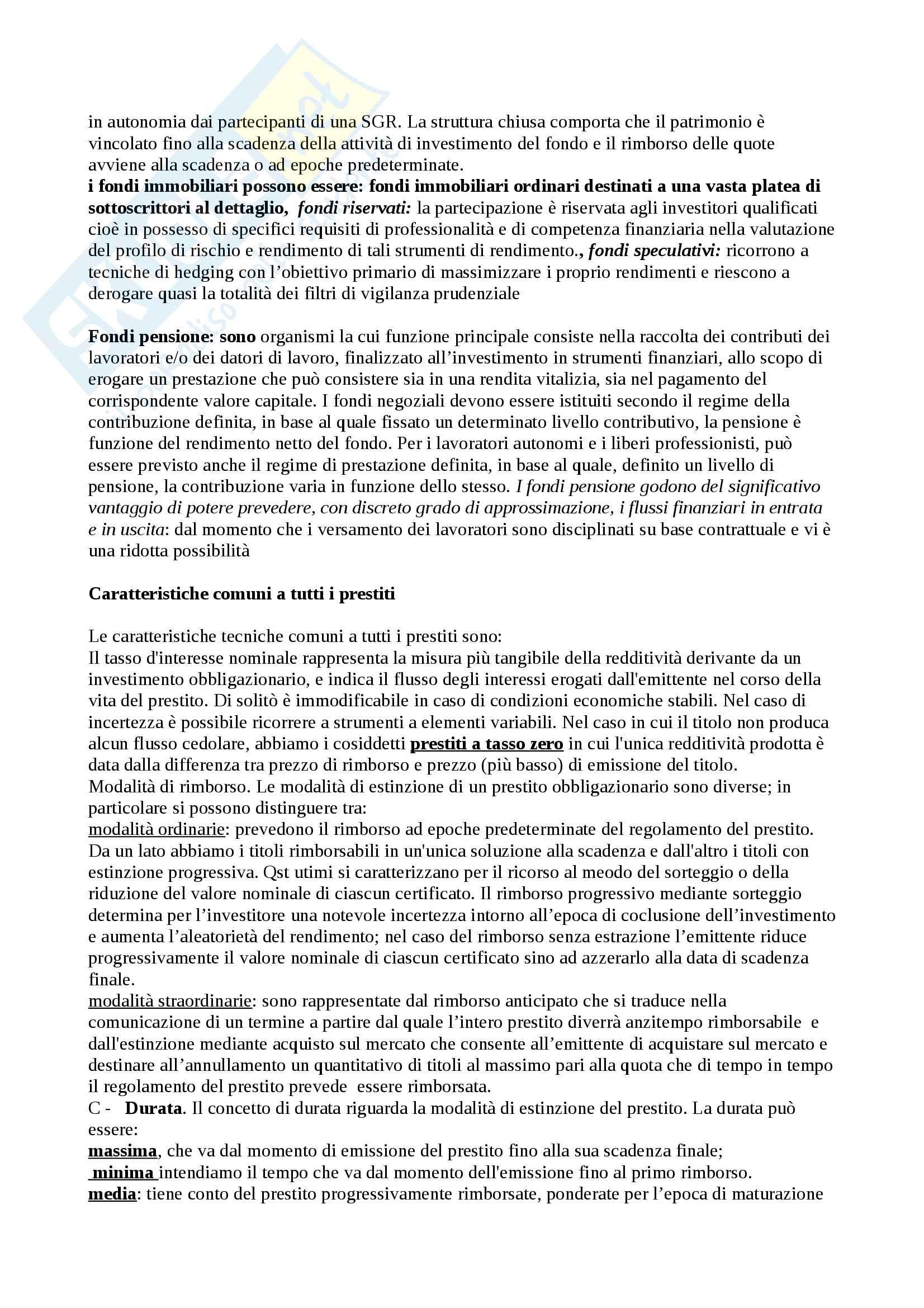 Domande e risposte Economia degli intermediari finanziari Pag. 31