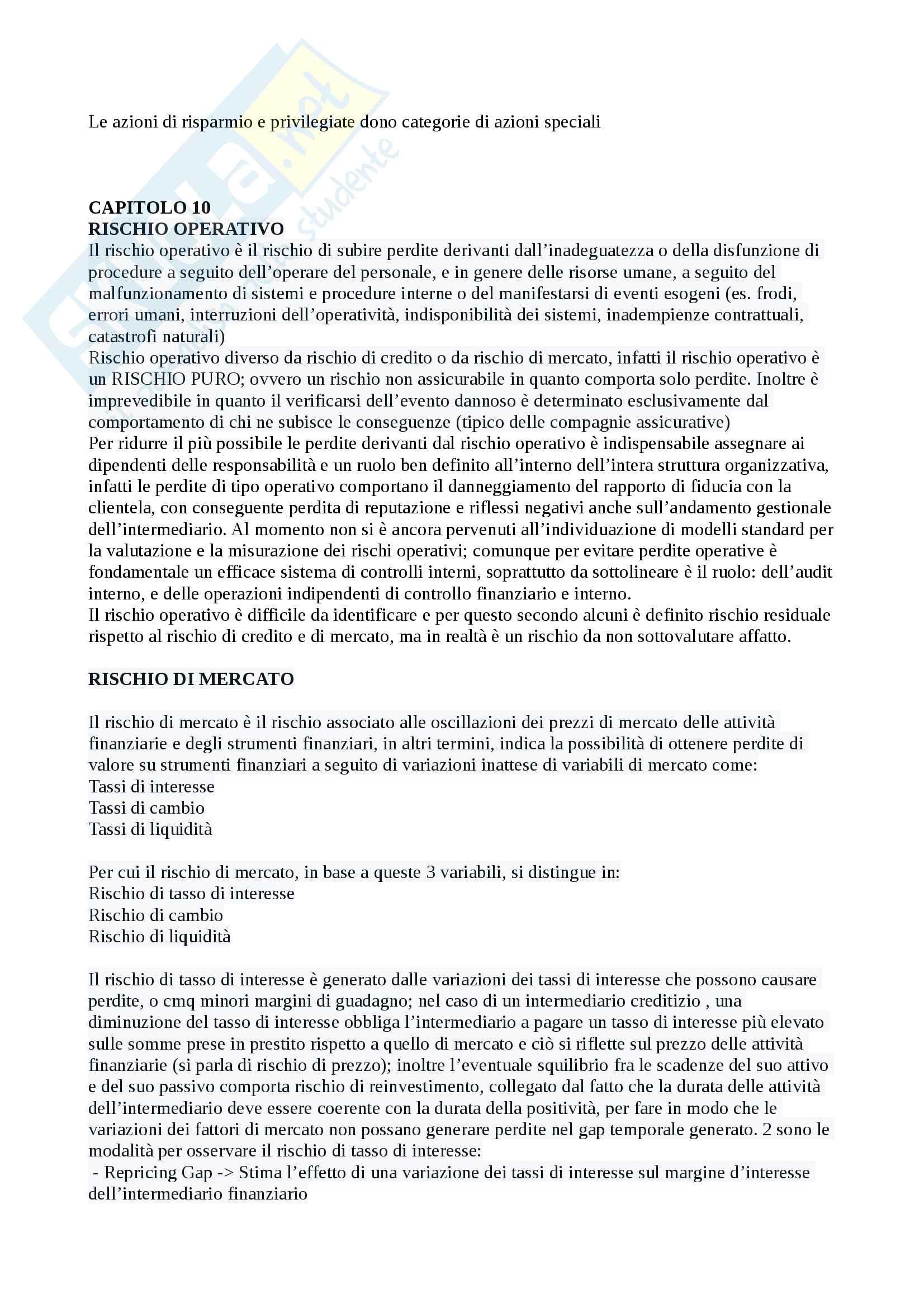 Domande e risposte Economia degli intermediari finanziari Pag. 36