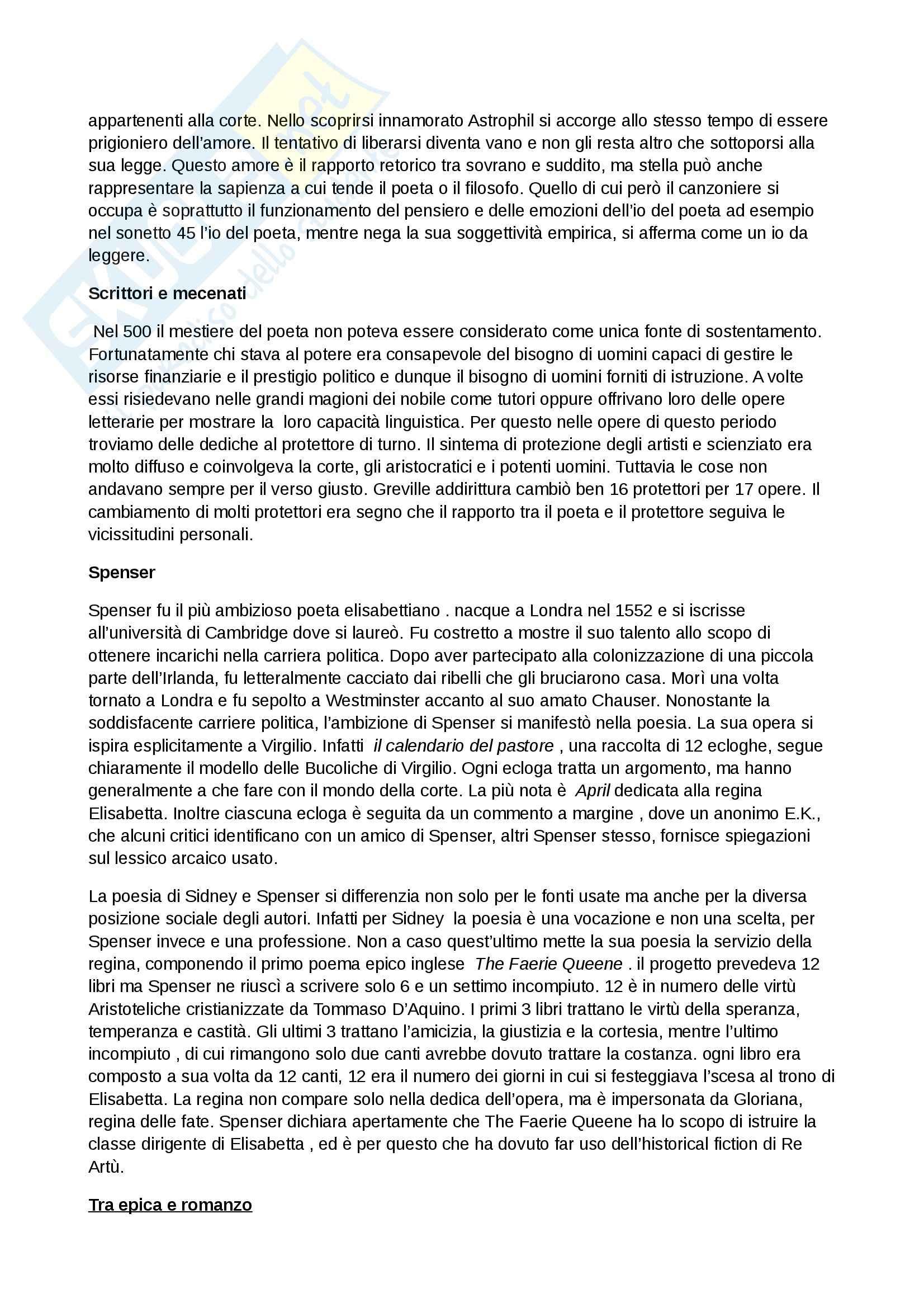 Riassunto esame Inglese, prof. Cariello, libro consigliato Storia della letteratura inglese. Dalle origini al Settecento, Bertinetti Pag. 16