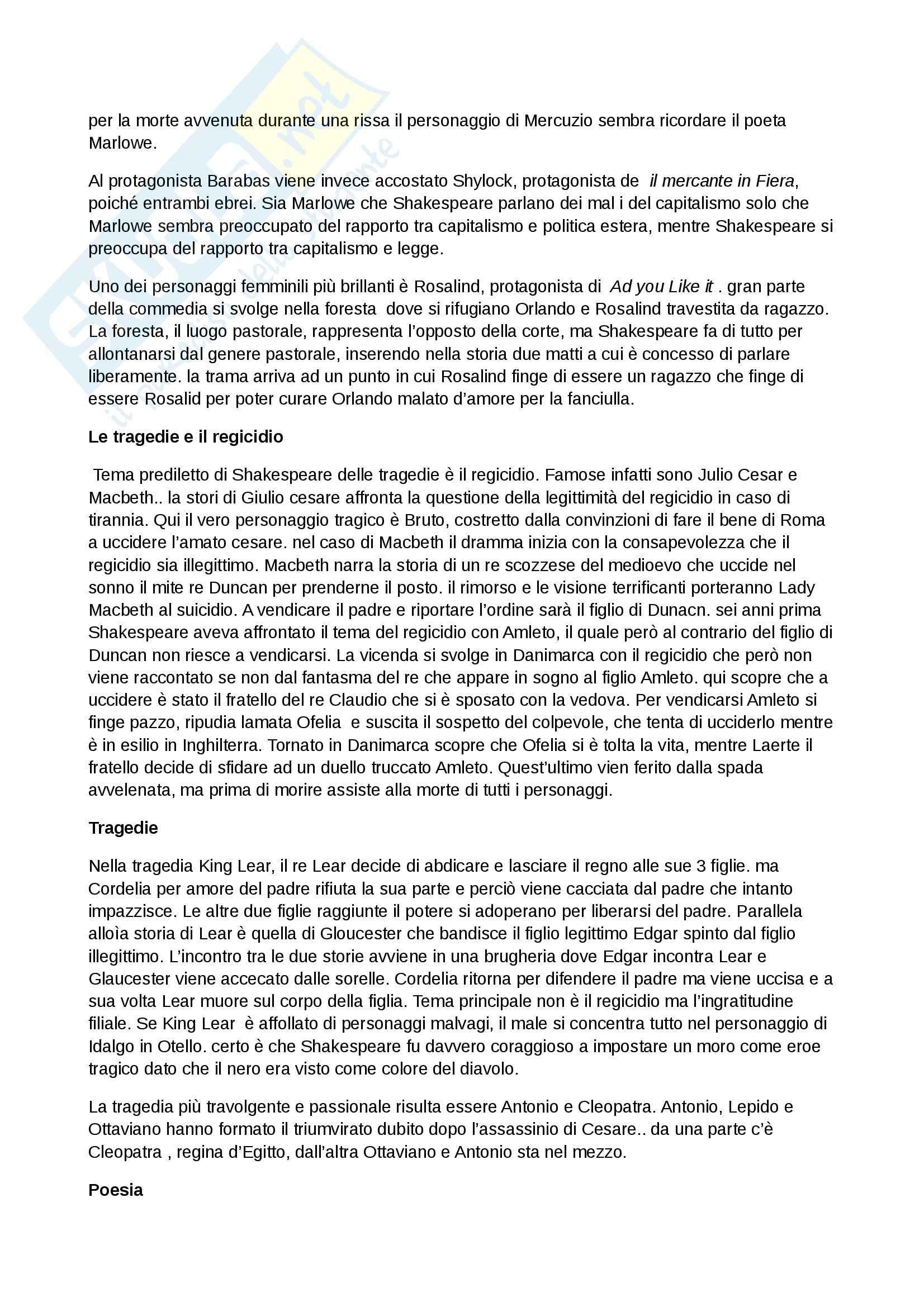 Riassunto esame Inglese, prof. Cariello, libro consigliato Storia della letteratura inglese. Dalle origini al Settecento, Bertinetti Pag. 41