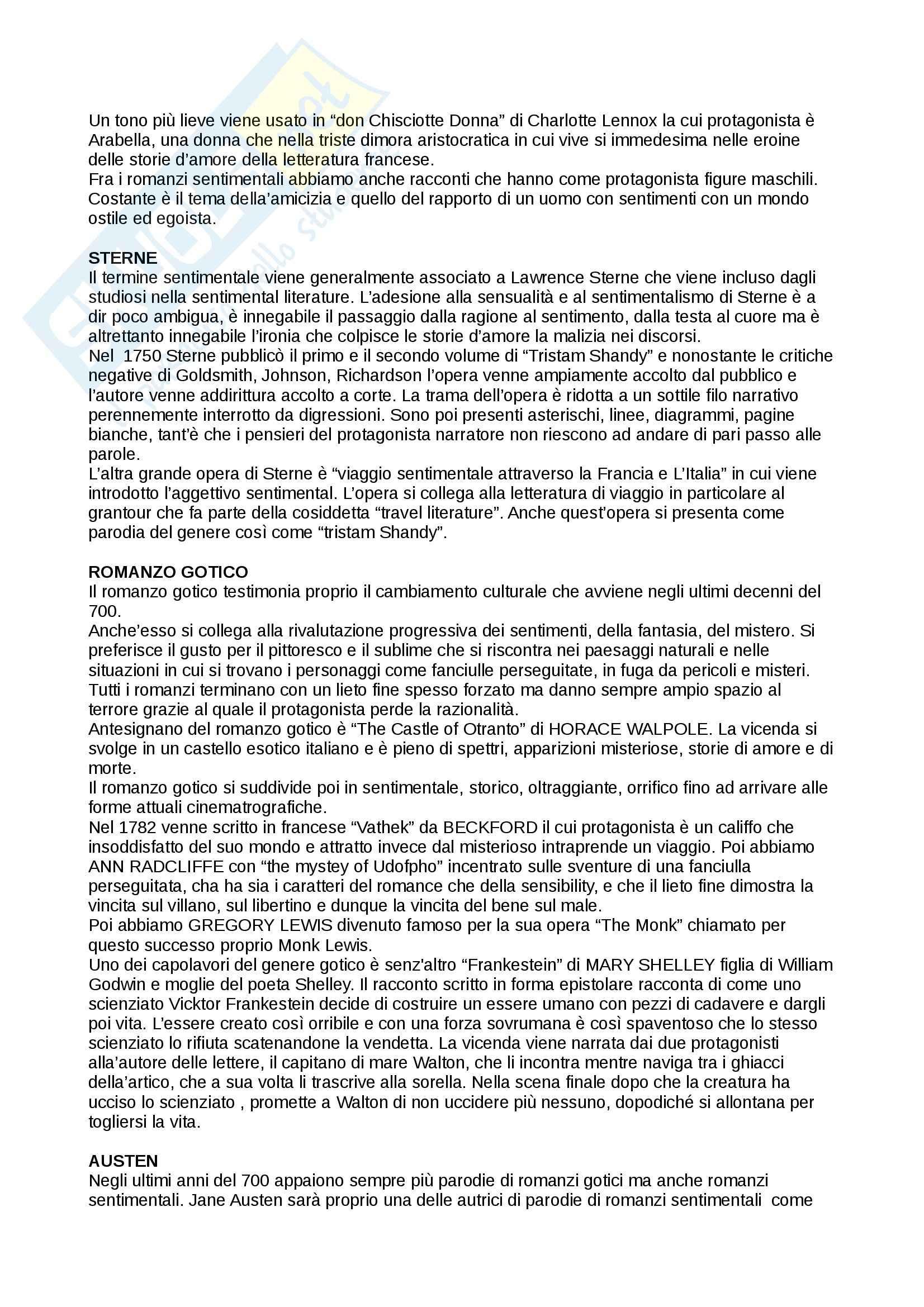 Riassunto esame Inglese, prof. Cariello, libro consigliato Storia della letteratura inglese. Dalle origini al Settecento, Bertinetti Pag. 56