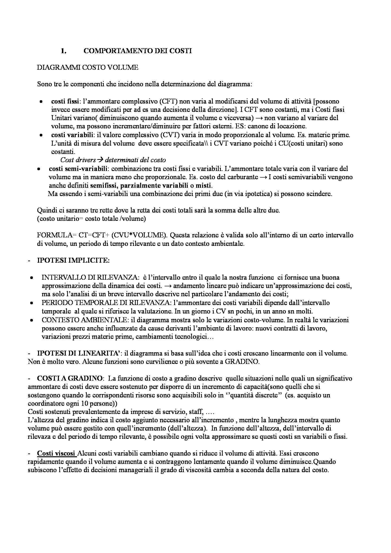 Riassunto esame Ingegneria economico-gestionale, prof. Porporato, libro consigliato Sistemi di controllo, McGraw-Hill