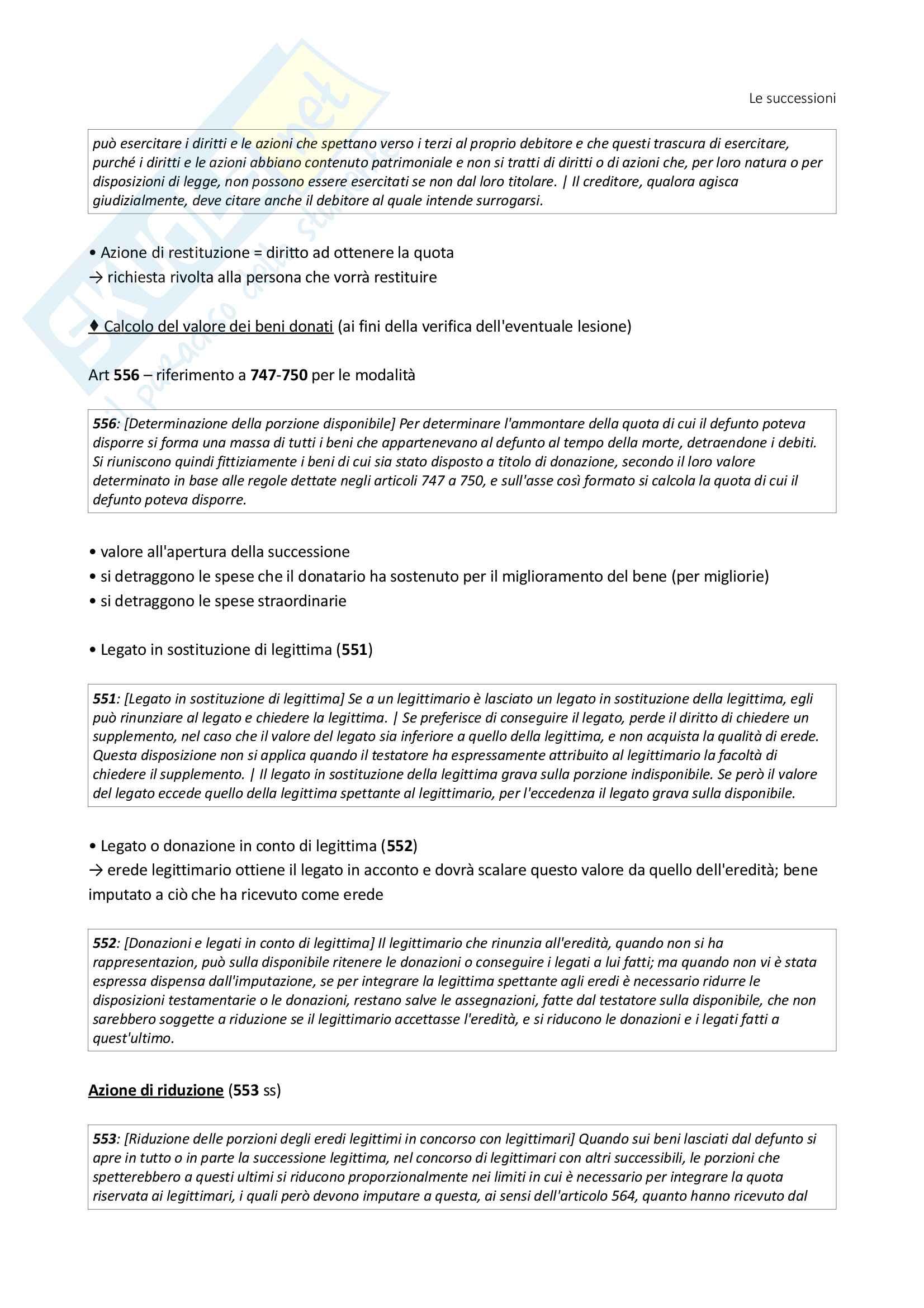 Istituzioni di Diritto Privato - Le Successioni (con filiazione) - Benacchio (UniTn) Pag. 26
