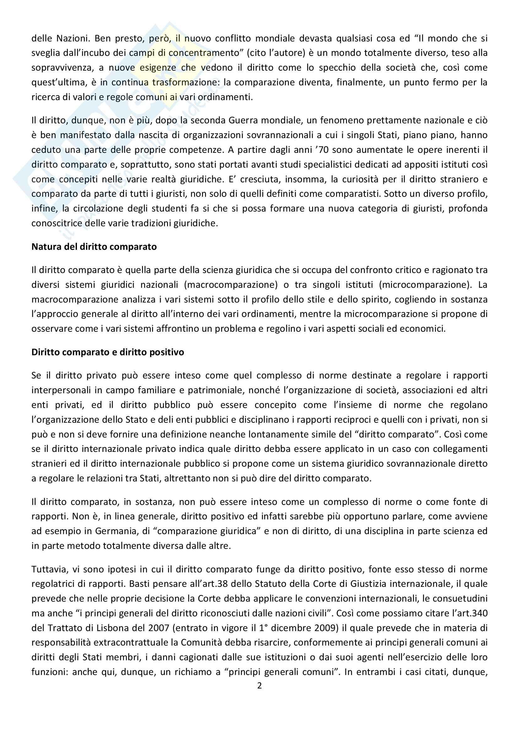 Diritto privato comparato Pag. 2