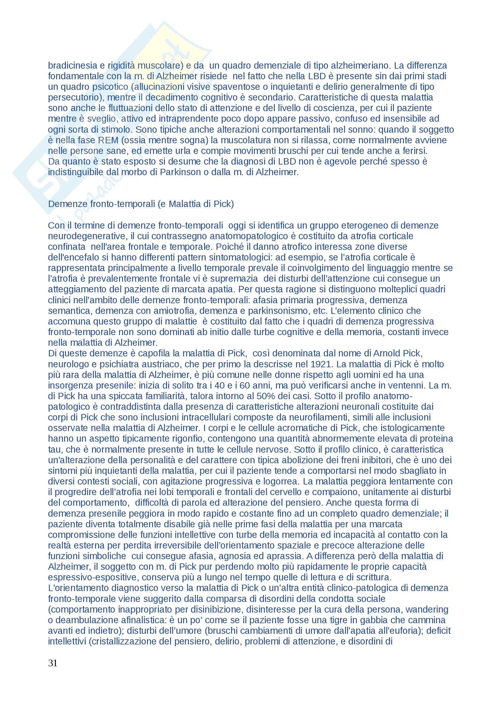 Domande di Neuropsicologia, domande e risposte per esame esaurienti e complete Pag. 31