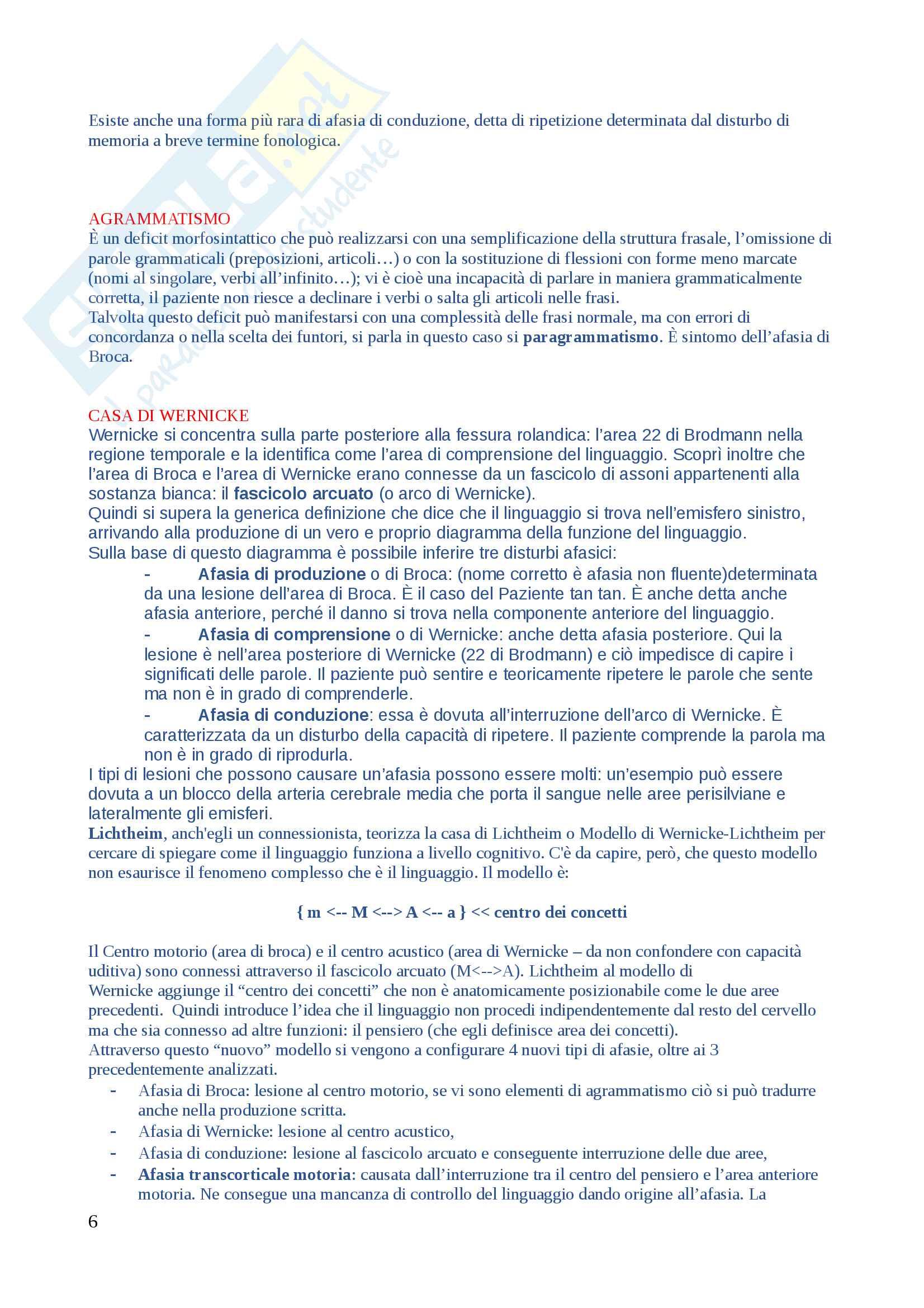 Domande di Neuropsicologia, domande e risposte per esame esaurienti e complete Pag. 6