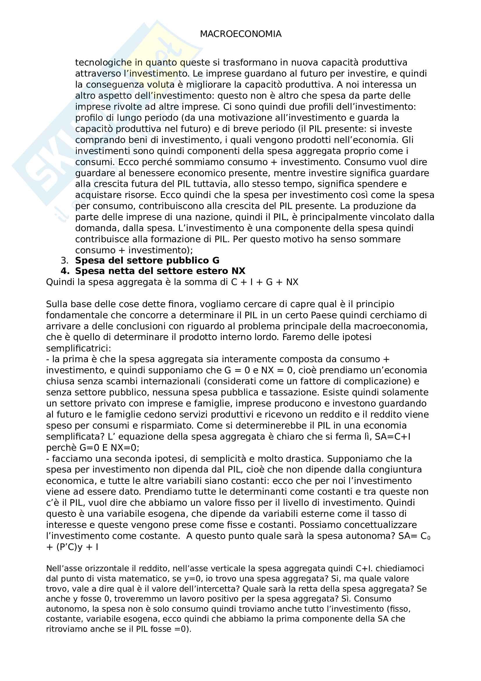 Macroeconomia, Economia Politica, prof. Opocher Pag. 21