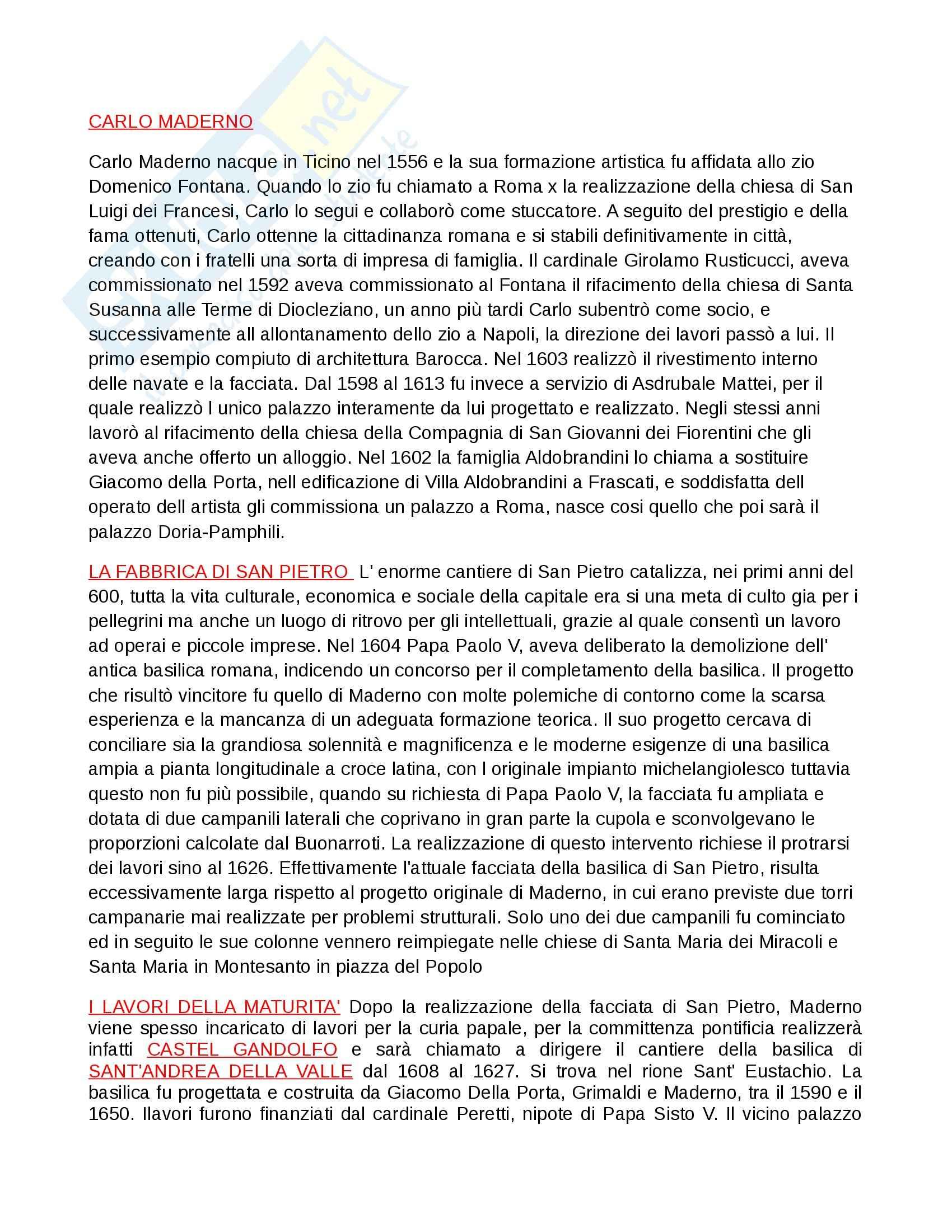 Riassunto esame Arte, prof. Valeriani, libro consigliato L'arte nel '600 a Roma, Wittkower