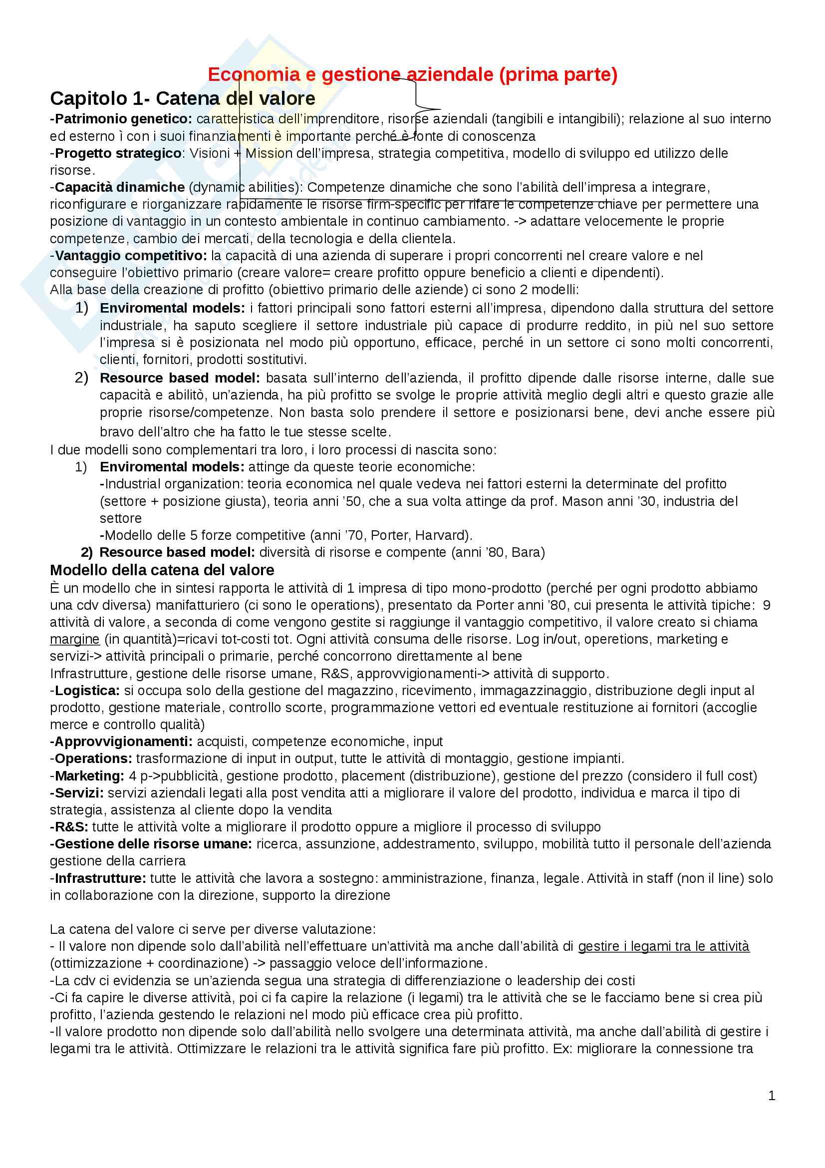 Economia e gestione aziendale Pag. 1
