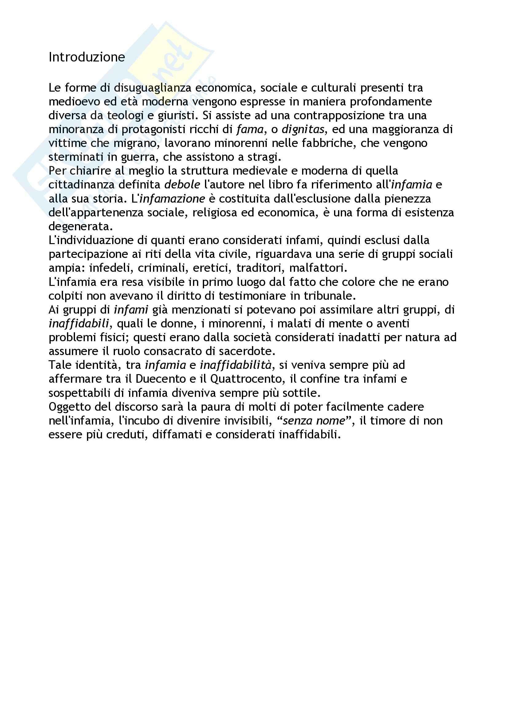 Riassunto esame Storia della giustizia, prof. Mazzacane, libro consigliato Visibilmente crudeli, Todeschini