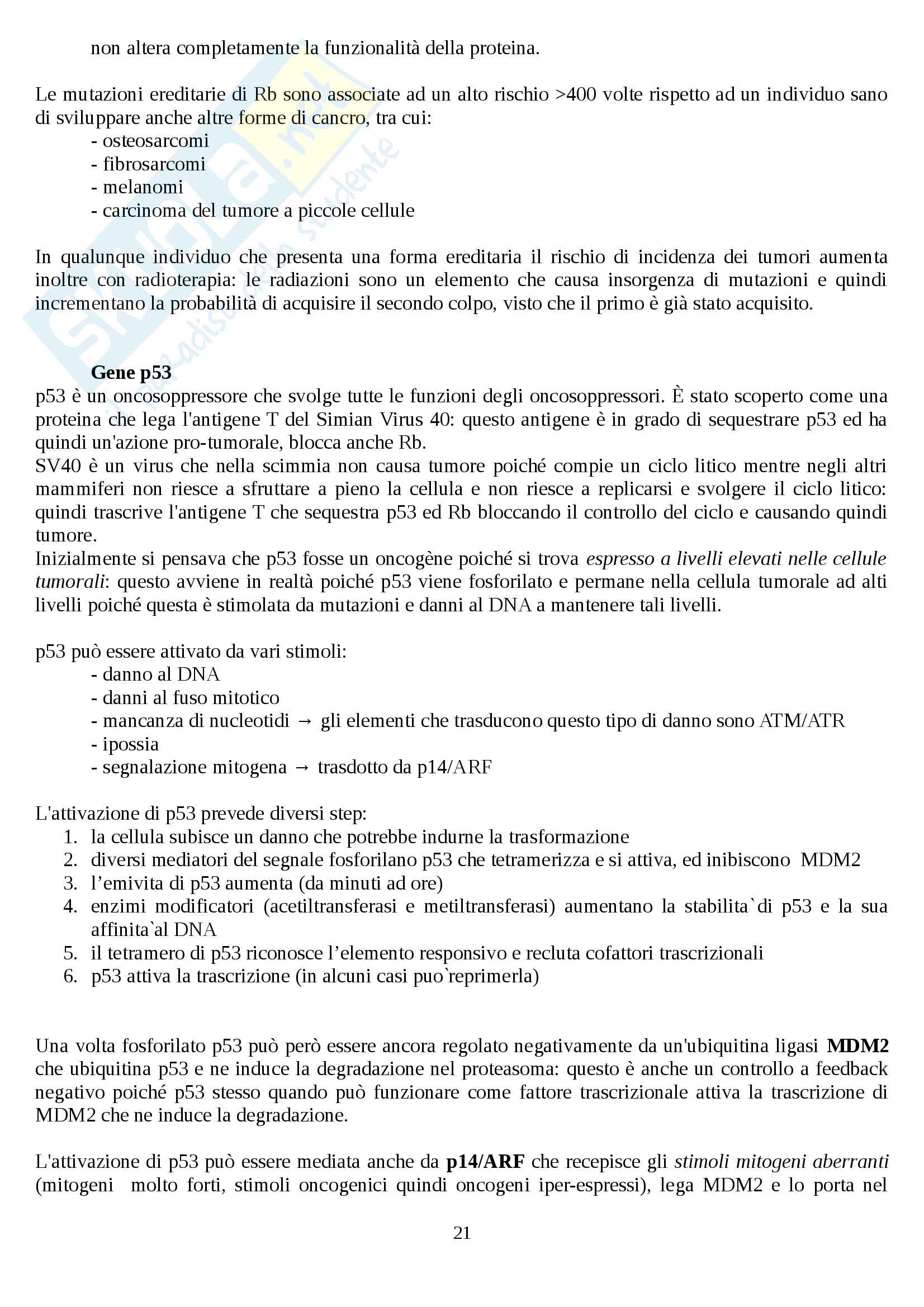 Oncologia generale Pag. 21