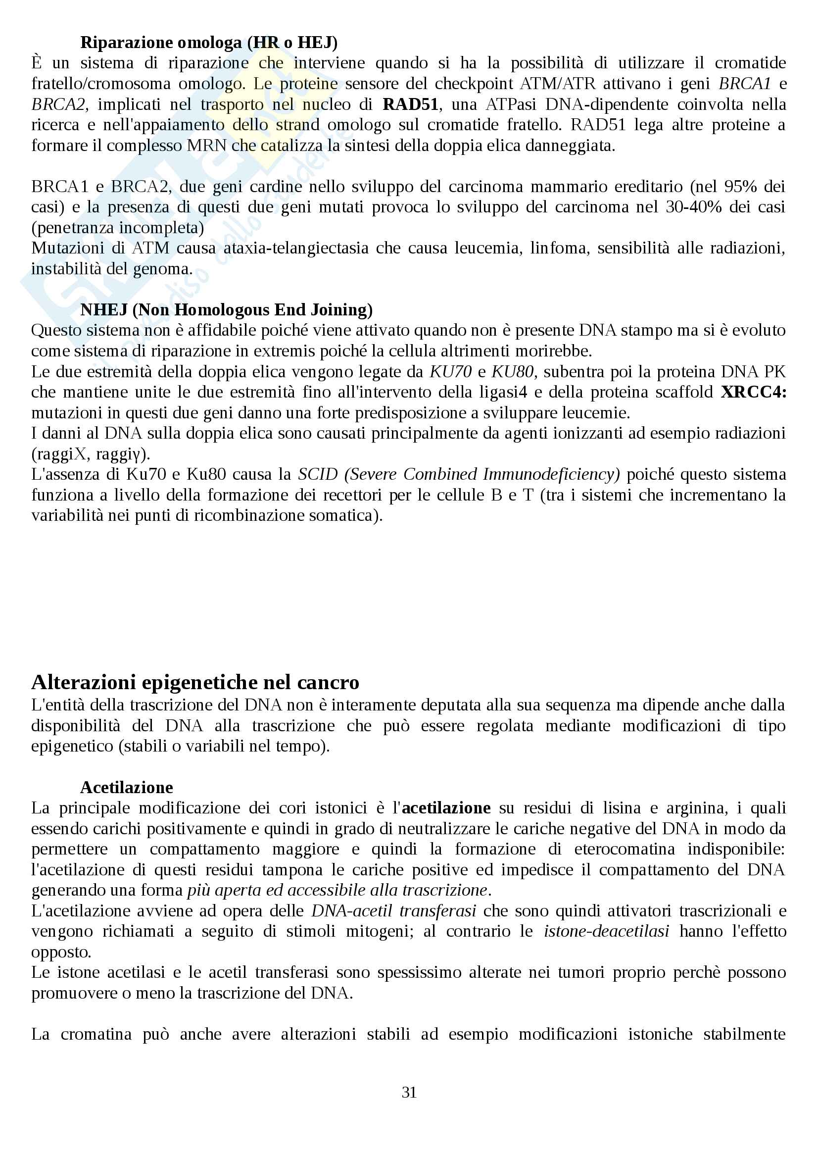 Oncologia generale Pag. 31