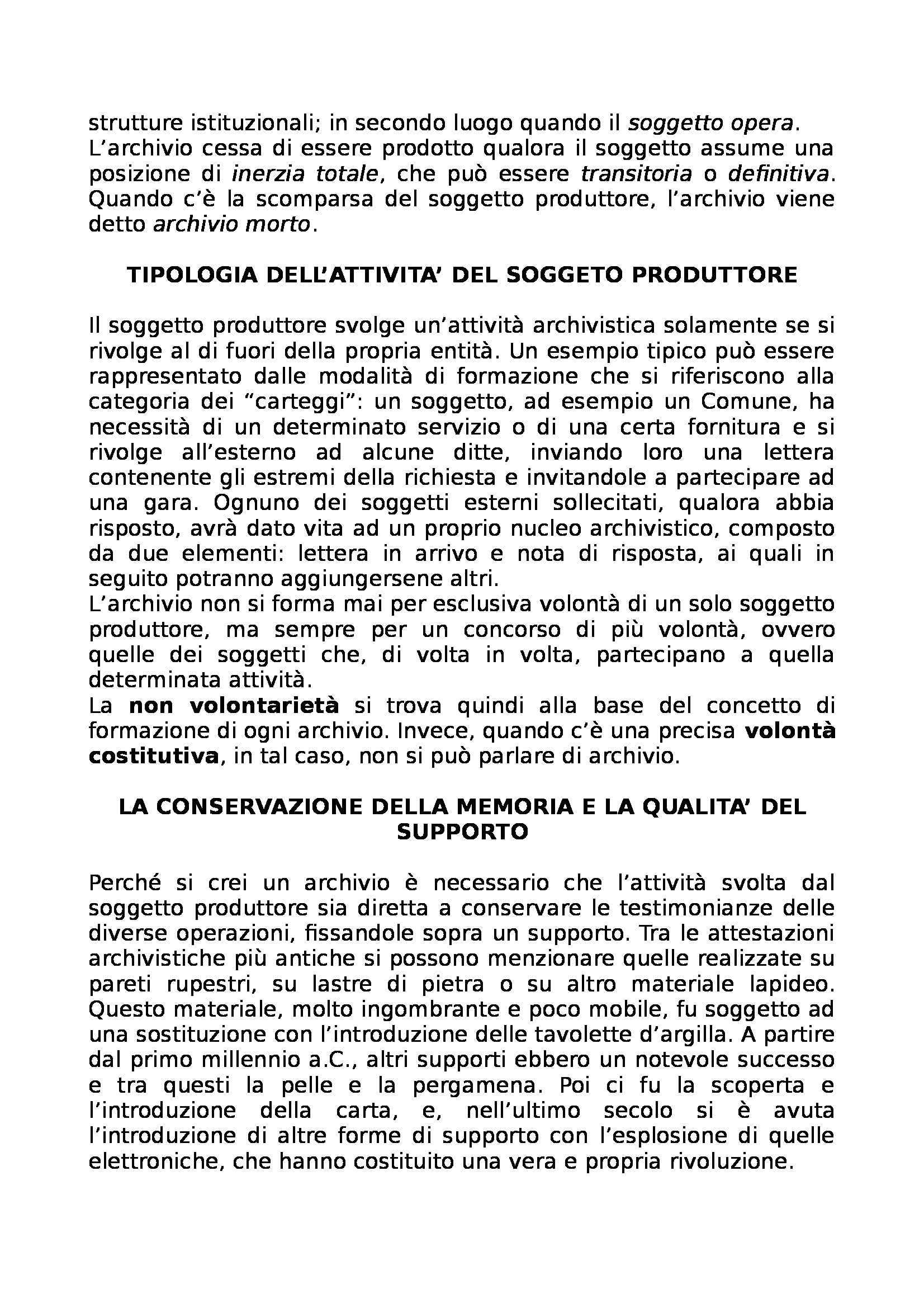 Riassunto esame Archivistica, prof. Giambastiani, libro consigliato Archivistica generale, Romiti Pag. 11
