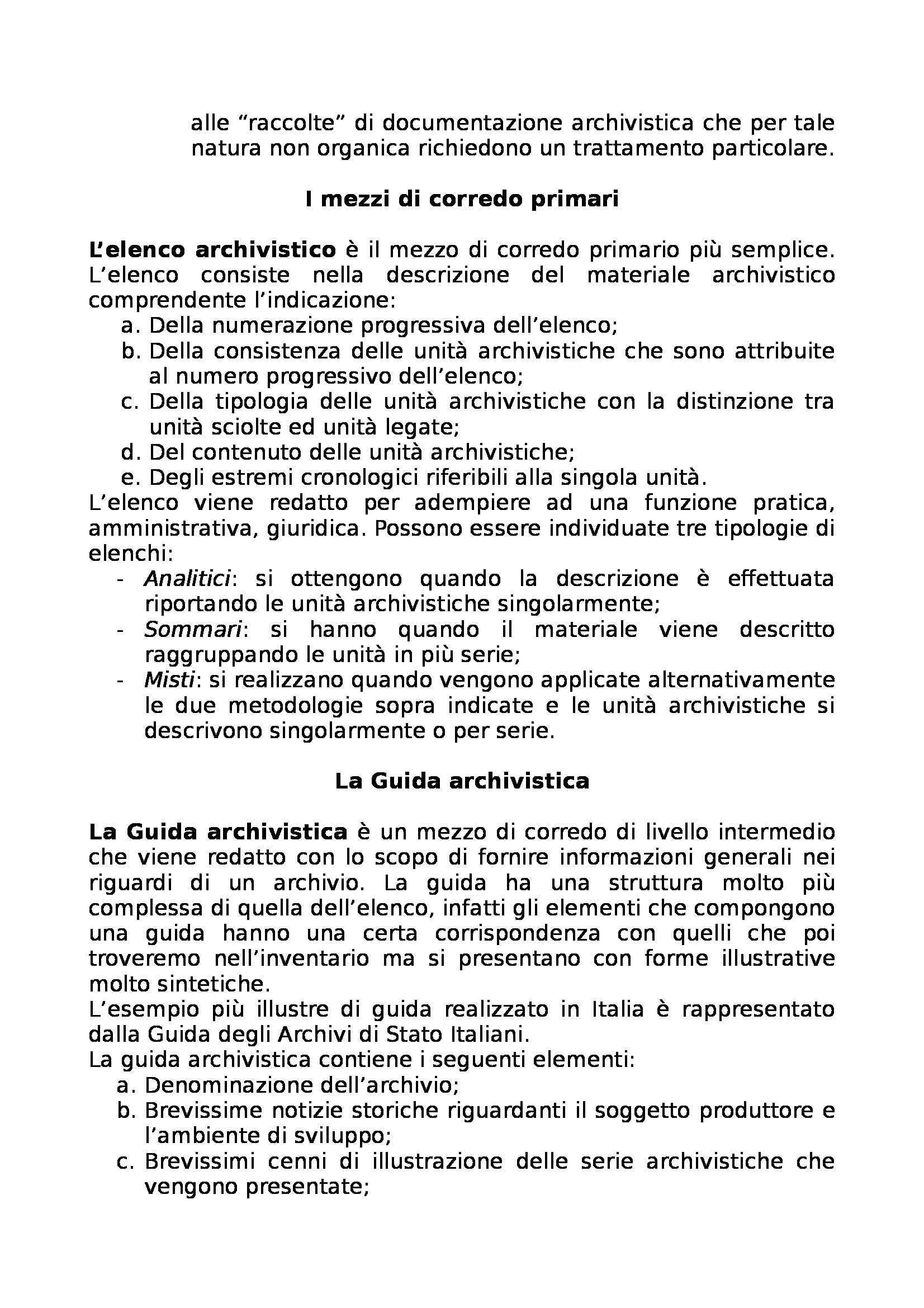 Riassunto esame Archivistica, prof. Giambastiani, libro consigliato Archivistica generale, Romiti Pag. 36