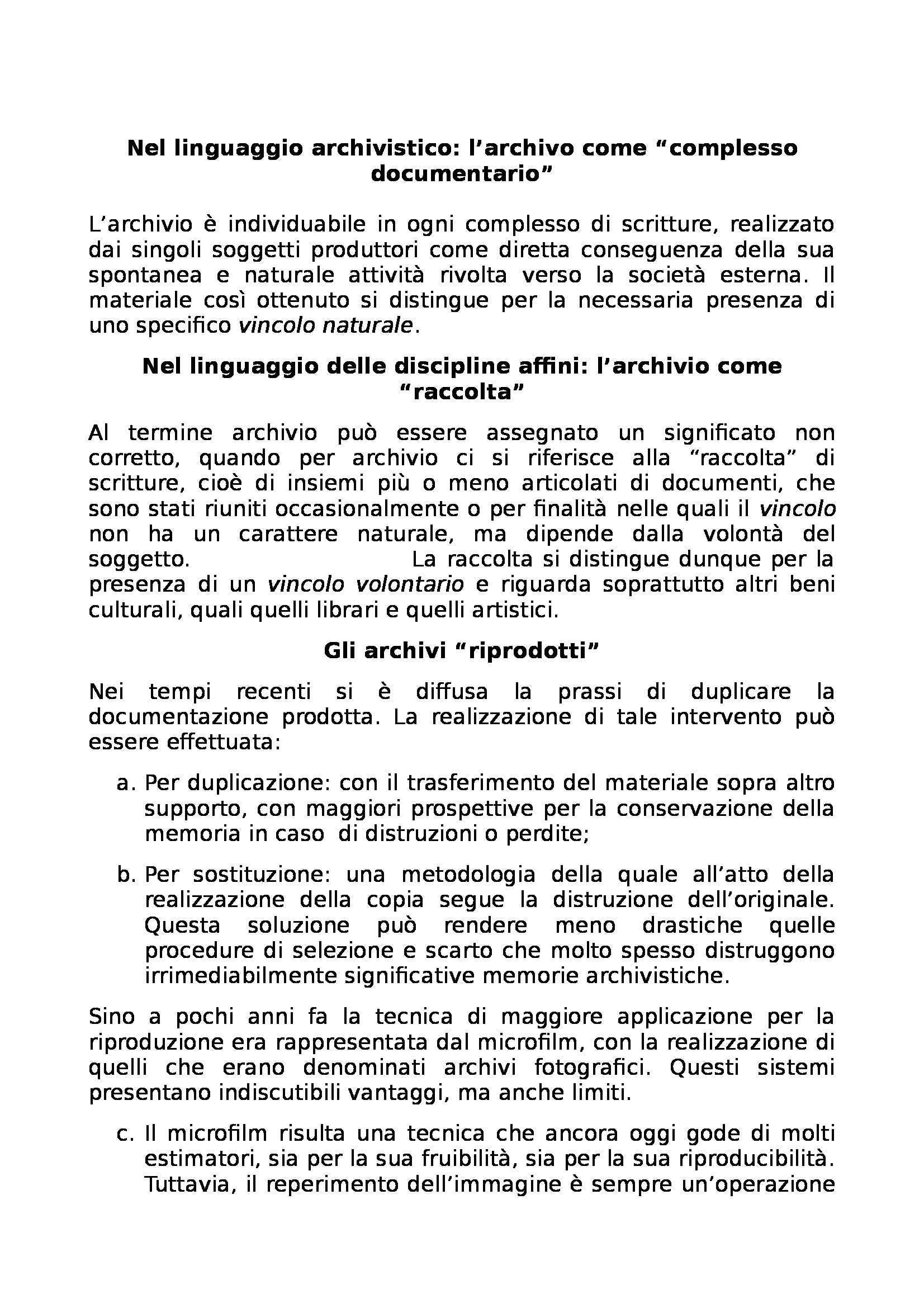 Riassunto esame Archivistica, prof. Giambastiani, libro consigliato Archivistica generale, Romiti Pag. 6