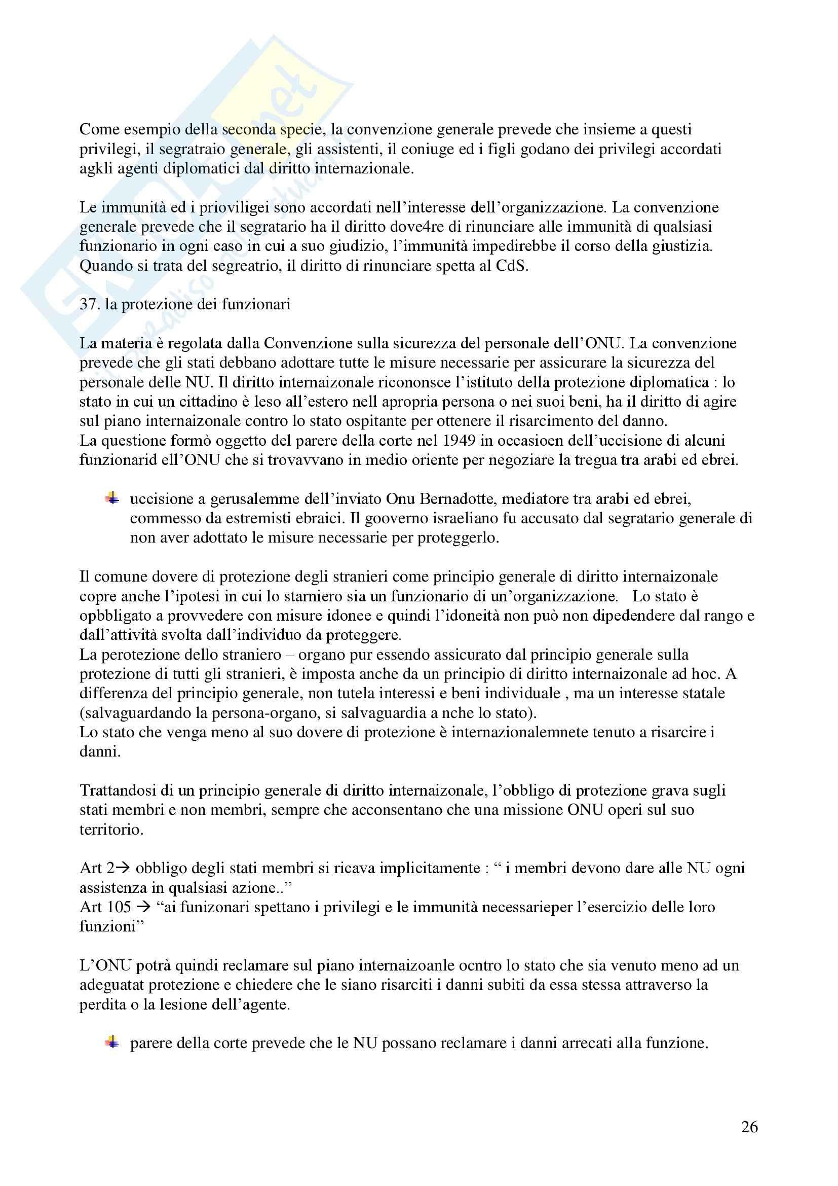 Riassunto esame Diritto Internazionale, prof. Davì, libro consigliato Le Nazioni Unite, Conforti Pag. 26
