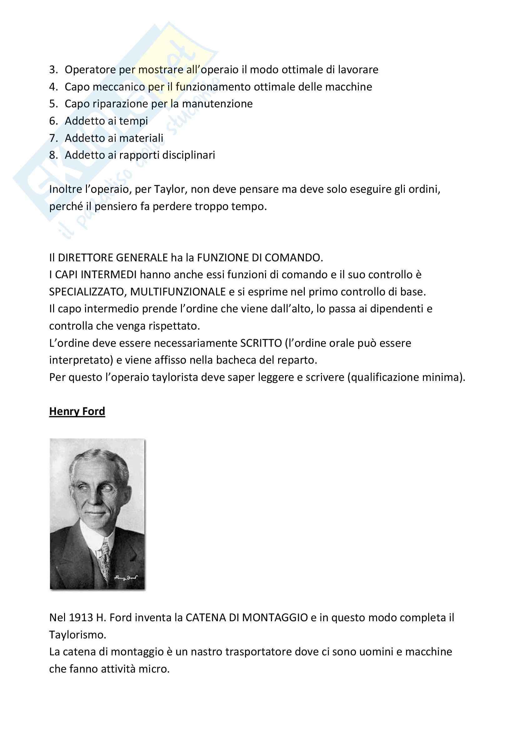 Riassunto esame Sociologia dell'Organizzazione, prof. Vicarelli, libro consigliato Storia del Pensiero Organizzativo, Bonazzi Pag. 11