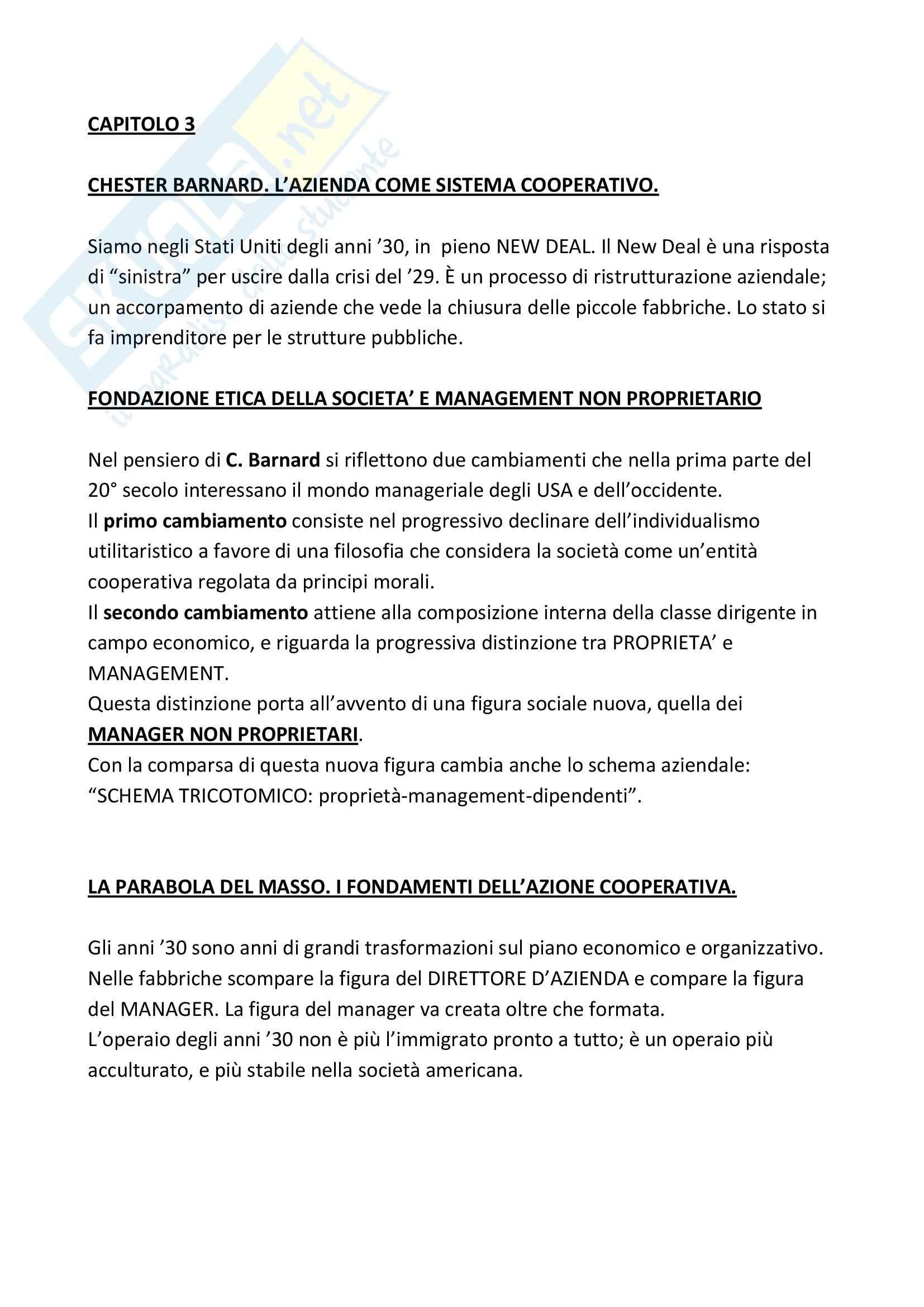 Riassunto esame Sociologia dell'Organizzazione, prof. Vicarelli, libro consigliato Storia del Pensiero Organizzativo, Bonazzi Pag. 26