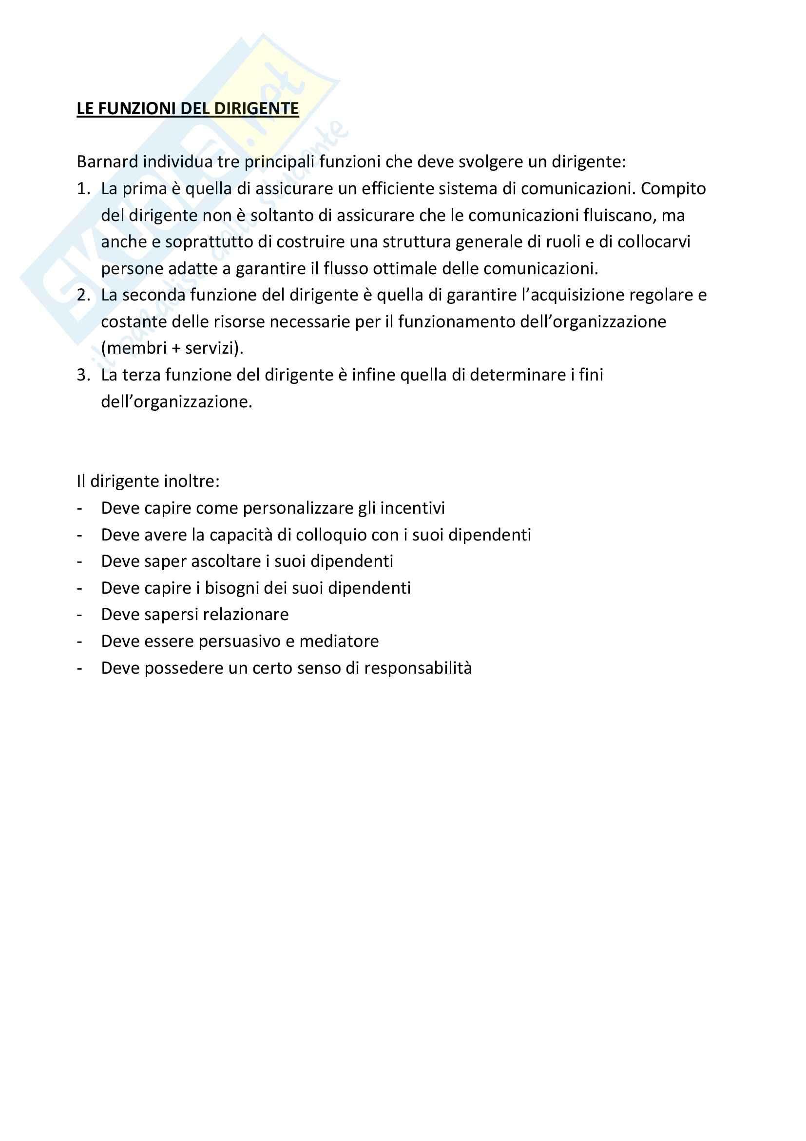 Riassunto esame Sociologia dell'Organizzazione, prof. Vicarelli, libro consigliato Storia del Pensiero Organizzativo, Bonazzi Pag. 31
