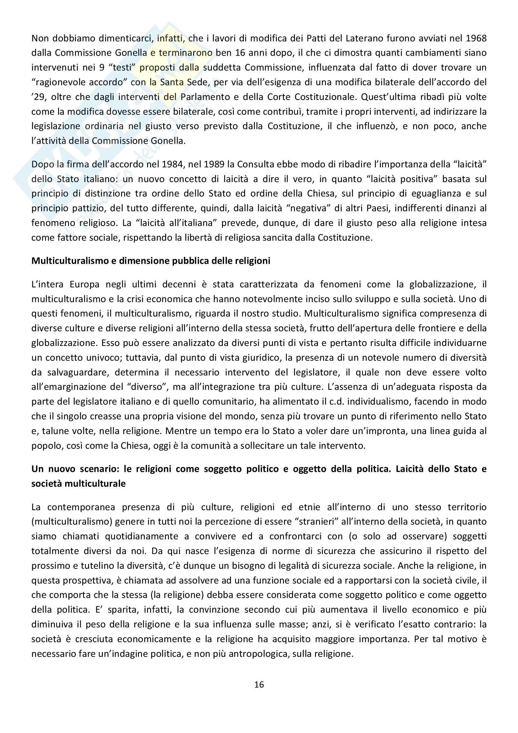 Diritto Ecclesiastico - oltre i confini Pag. 16