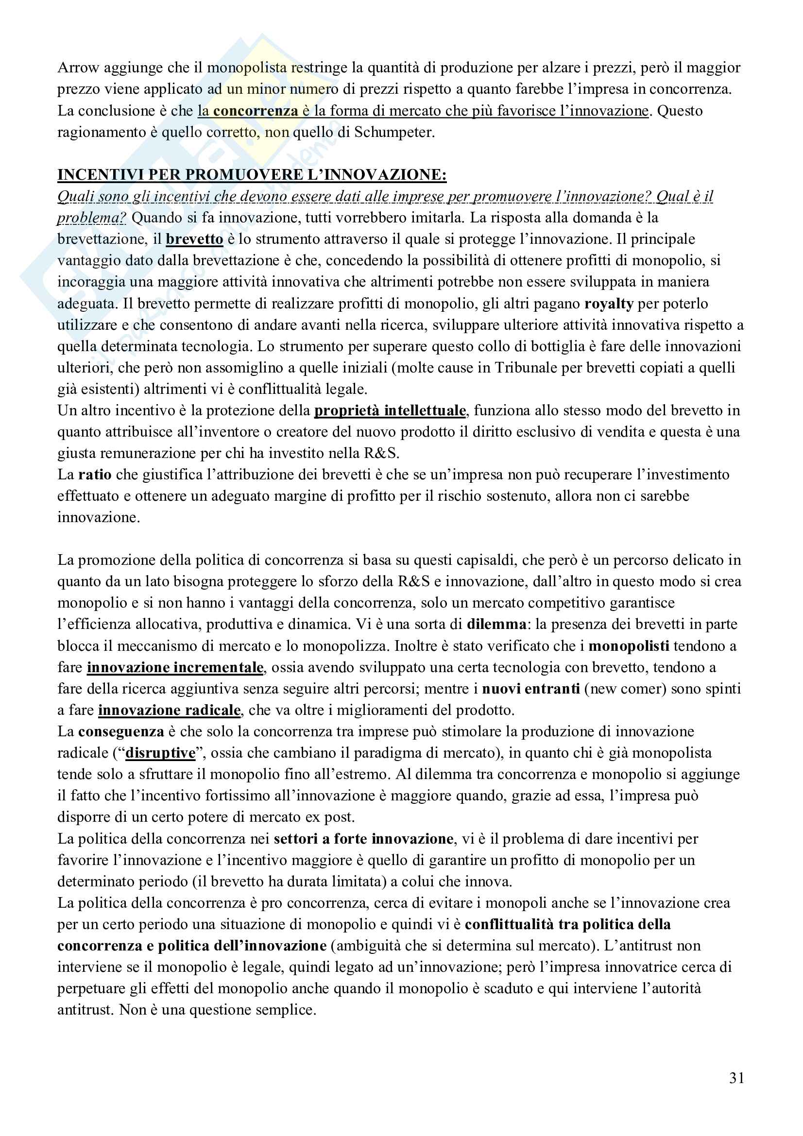 Esame Economia delle Forme di Mercato (Economia Industriale II) Pag. 31