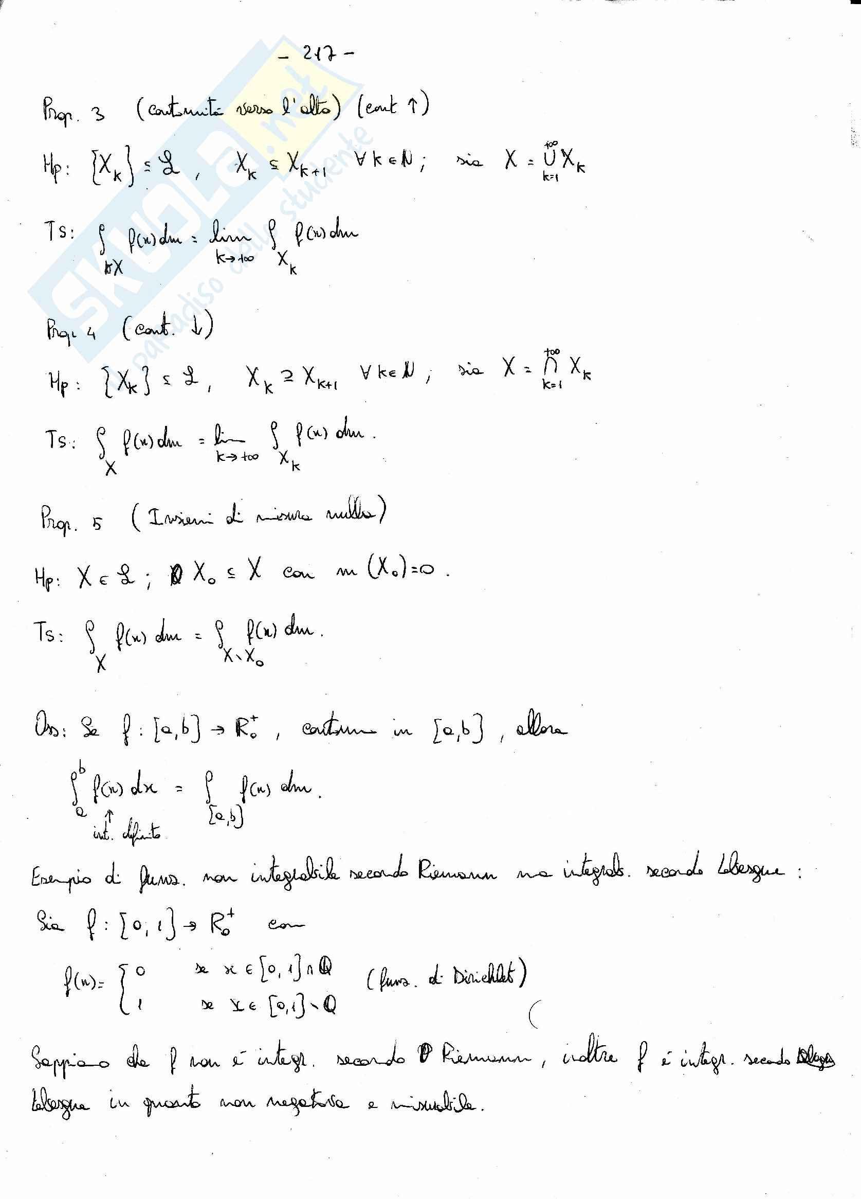 Analisi matematica 2 - l'integrale di Lebesgue per le funzioni di segno qualsiasi