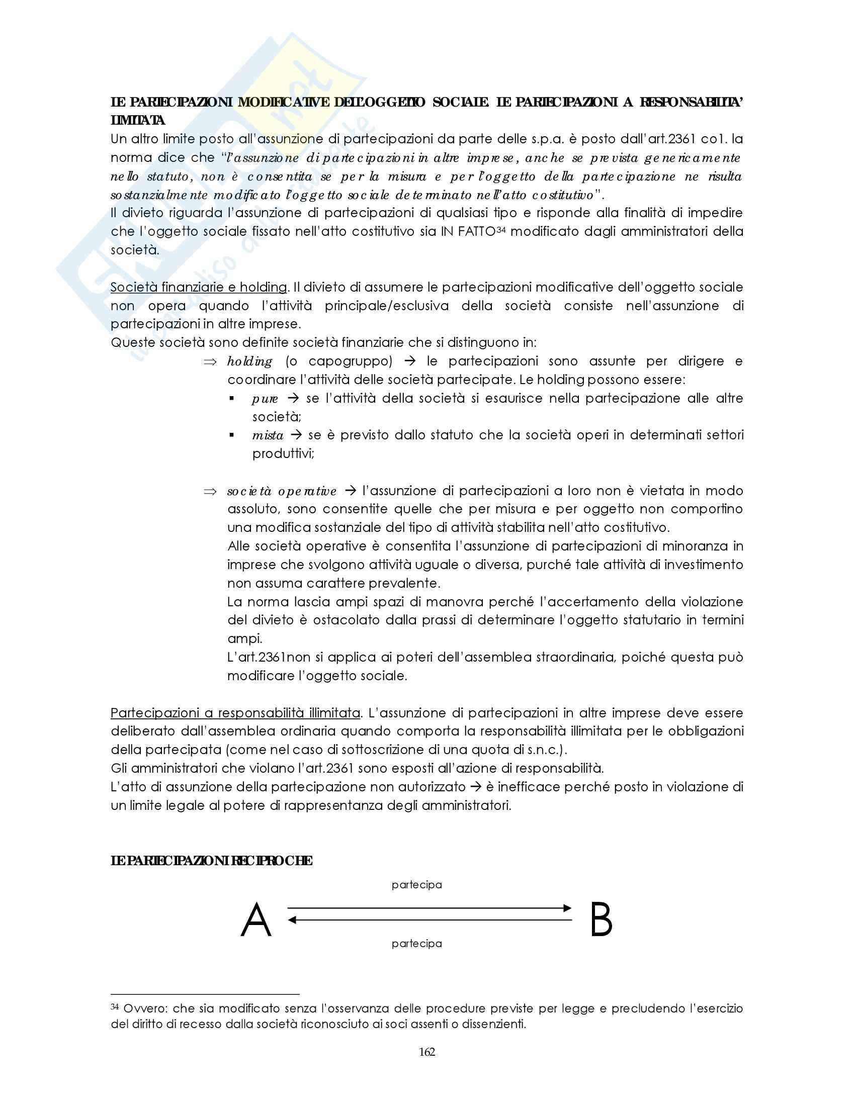 Riassunto esame Diritto commerciale, prof. Weigmann, libro consigliato Manuale di diritto commerciale, Campobasso:società di capitali Pag. 26