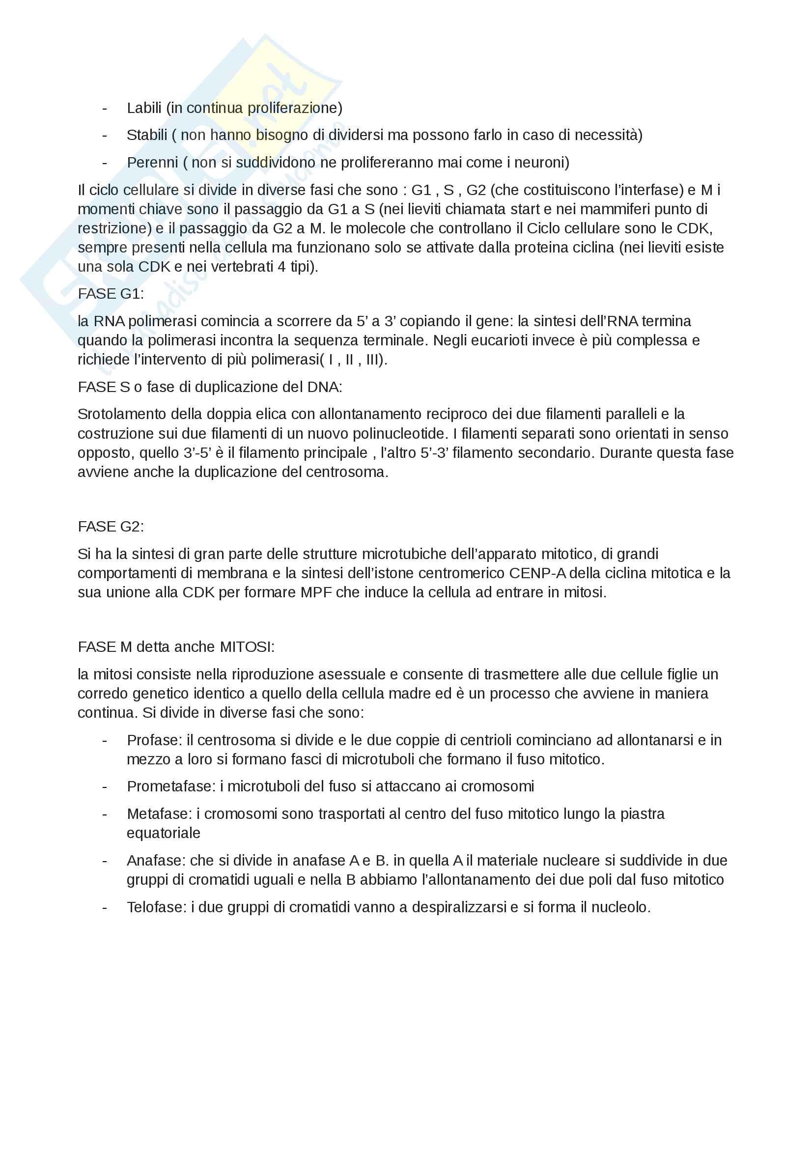 Riassunti di citologia Pag. 21