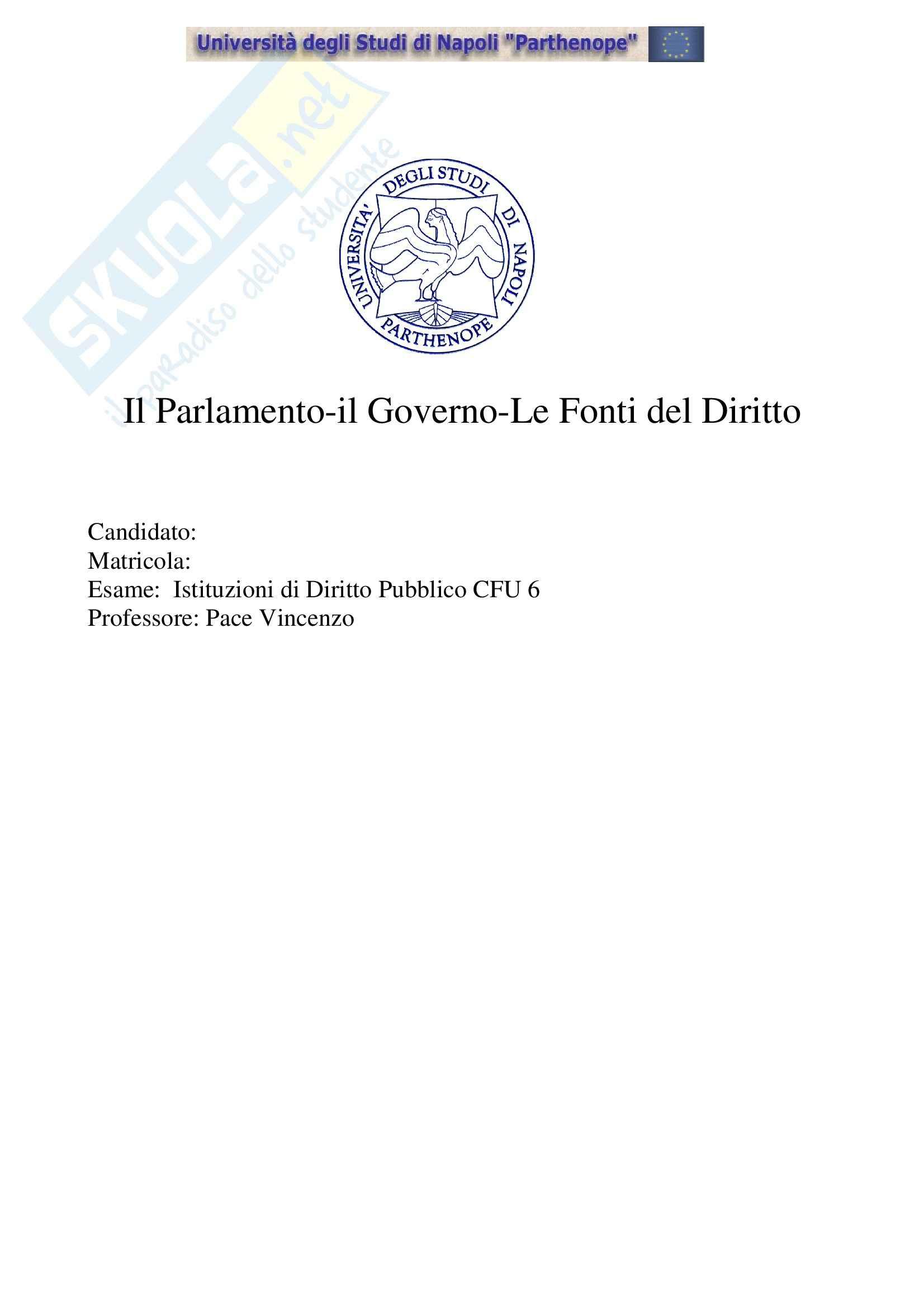 Diritto pubblico - fonti del diritto - Tesina