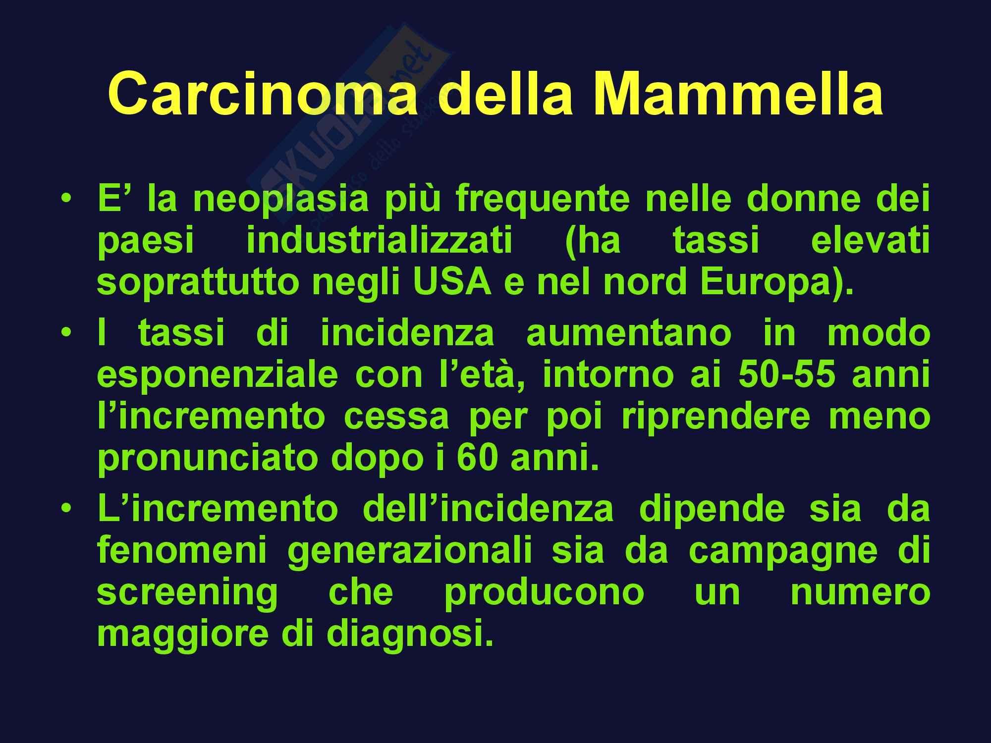 Oncologia medica - carcinoma della mammella