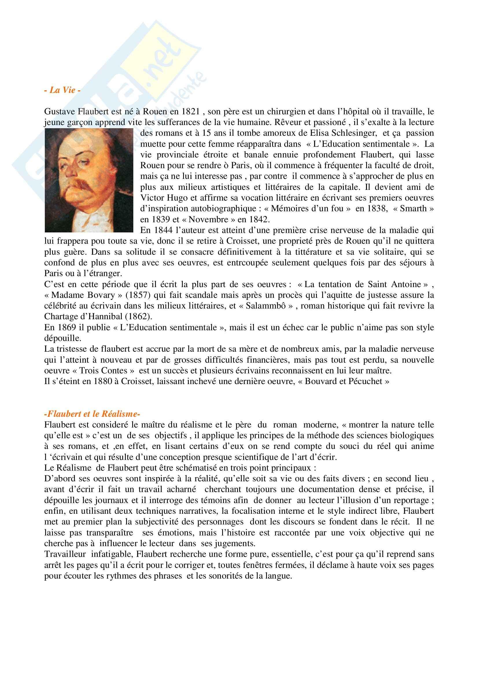 Flauberte et Realisme