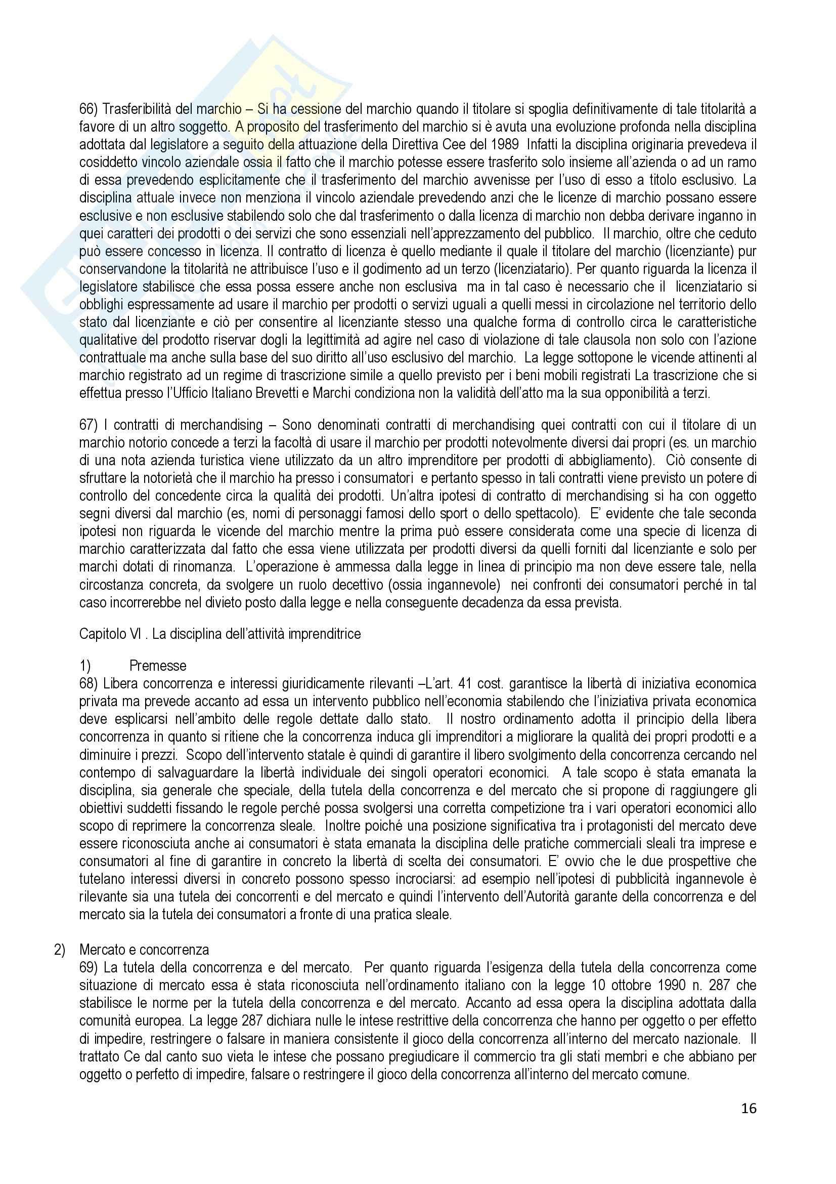 Riassunto esame Diritto Commerciale, prof. Terranova, libro consigliato Manuale di Diritto Commerciale, Ferri Pag. 16