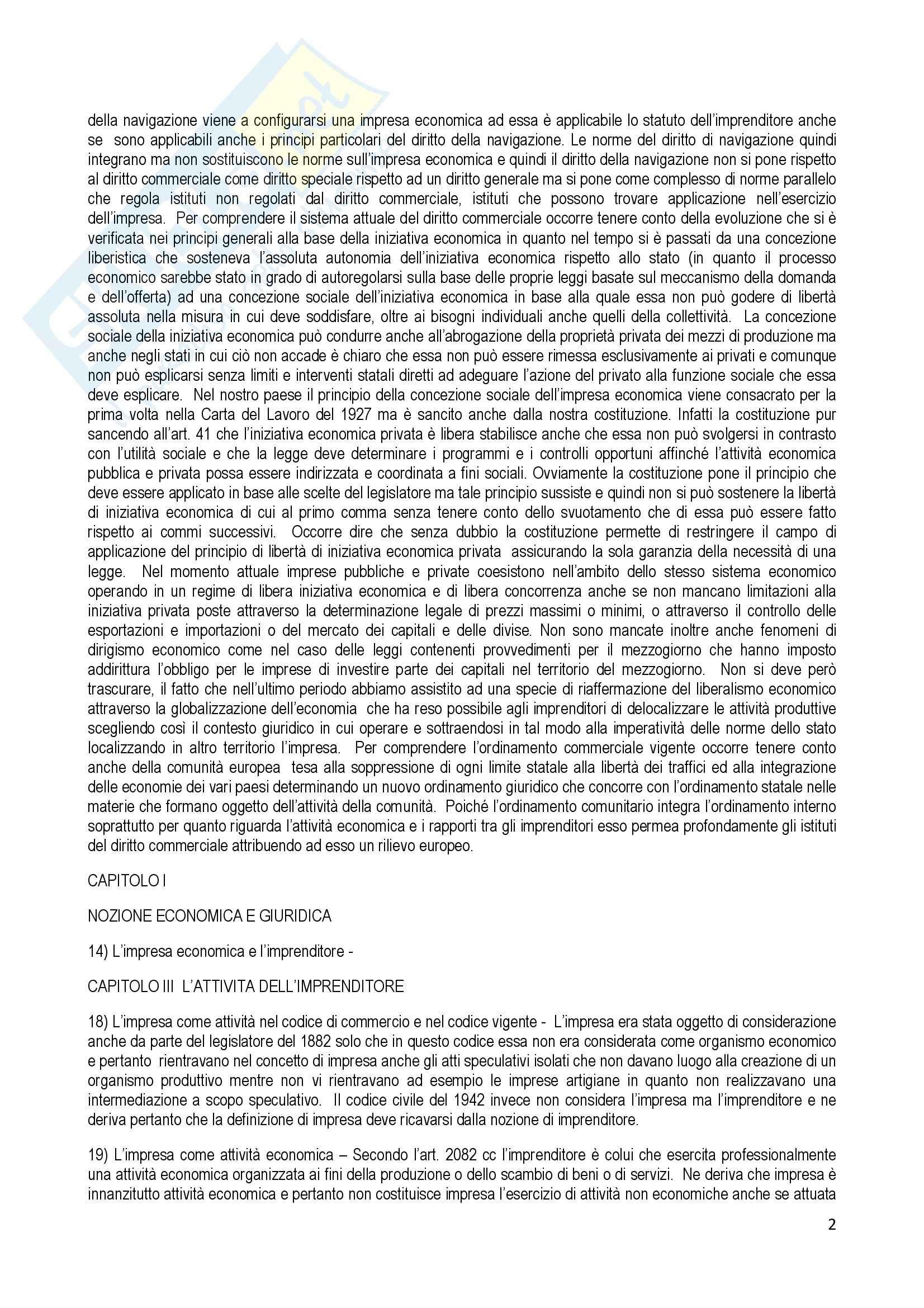 Riassunto esame Diritto Commerciale, prof. Terranova, libro consigliato Manuale di Diritto Commerciale, Ferri Pag. 2