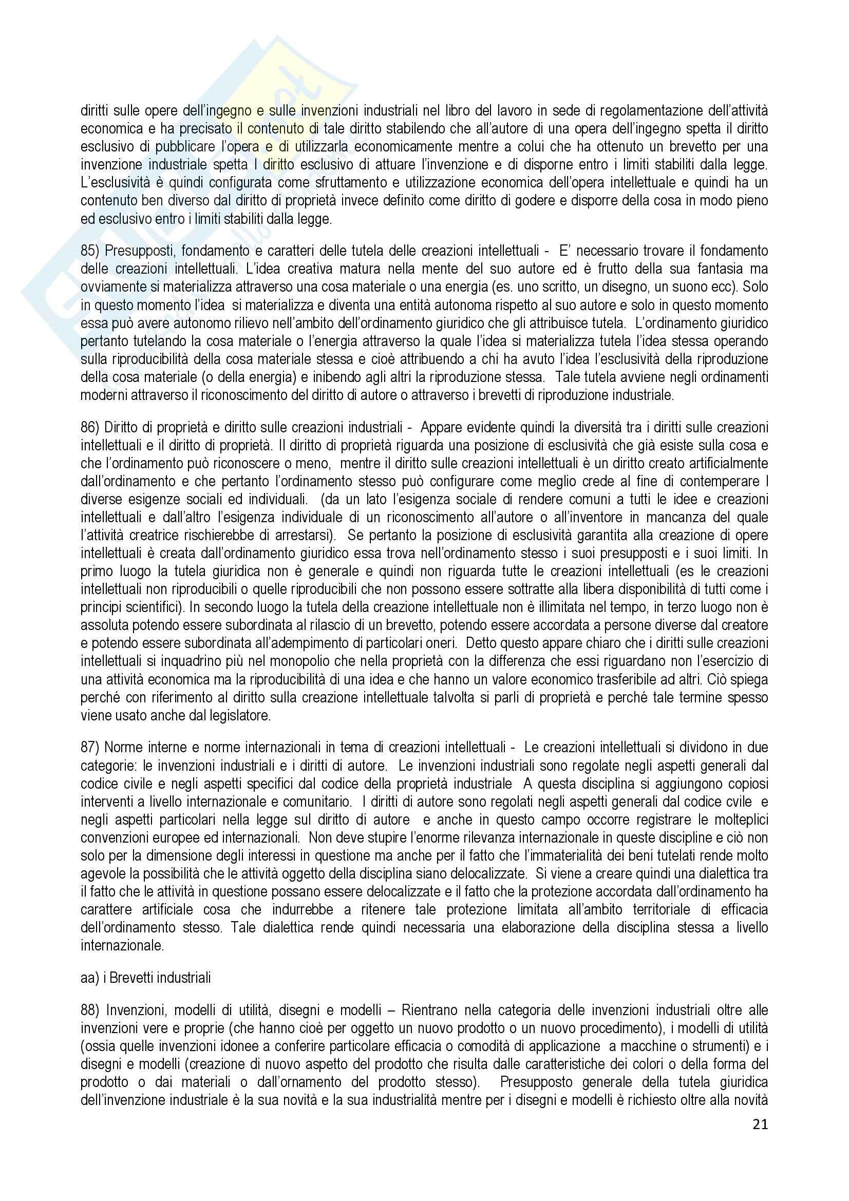 Riassunto esame Diritto Commerciale, prof. Terranova, libro consigliato Manuale di Diritto Commerciale, Ferri Pag. 21