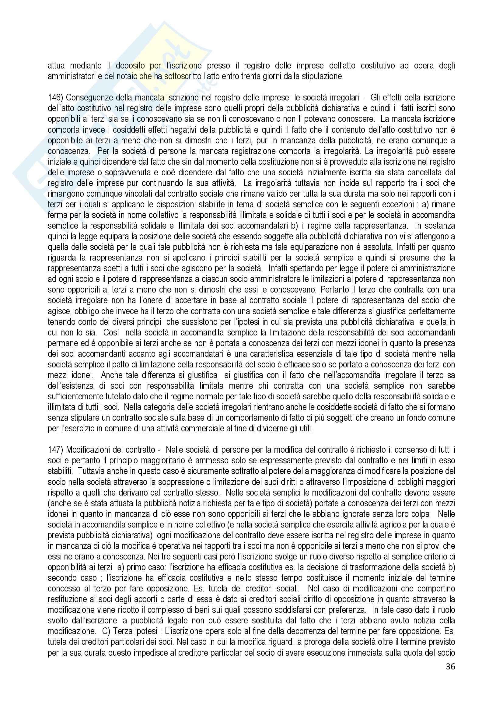 Riassunto esame Diritto Commerciale, prof. Terranova, libro consigliato Manuale di Diritto Commerciale, Ferri Pag. 36